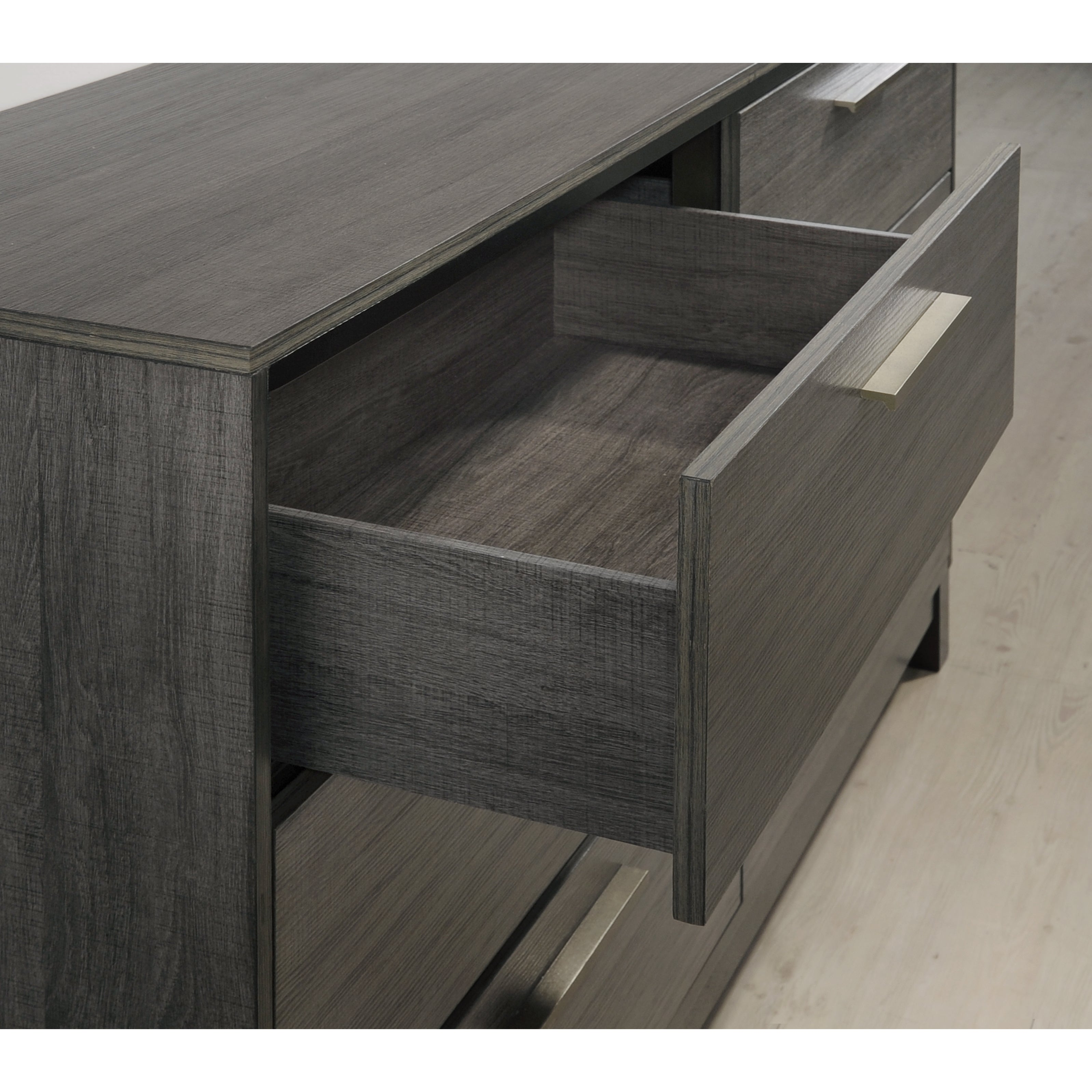 Shop ioana 187 antique grey finish wood bed room set king size bed dresser mirror 2 night stands chest free shipping today overstock com 14988618