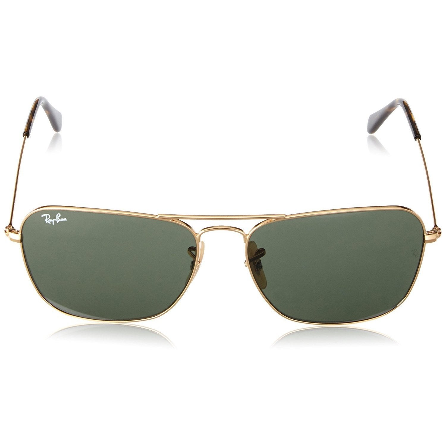 c14eb96462 Shop Ray-Ban Caravan RB3136 181 Unisex Gold Frame Green Classic 58mm Lens  Sunglasses - Free Shipping Today - Overstock.com - 14988796