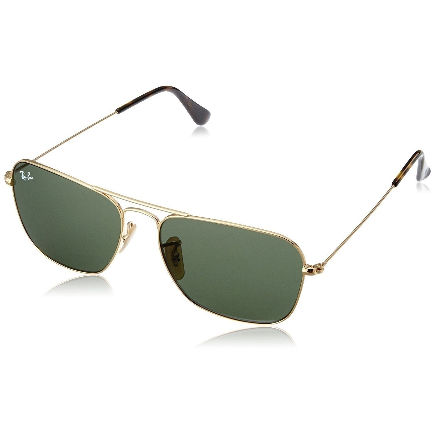 a58d5561f3bbd Shop Ray-Ban Caravan RB3136 181 Unisex Gold Frame Green Classic 58mm Lens  Sunglasses - Free Shipping Today - Overstock - 14988796