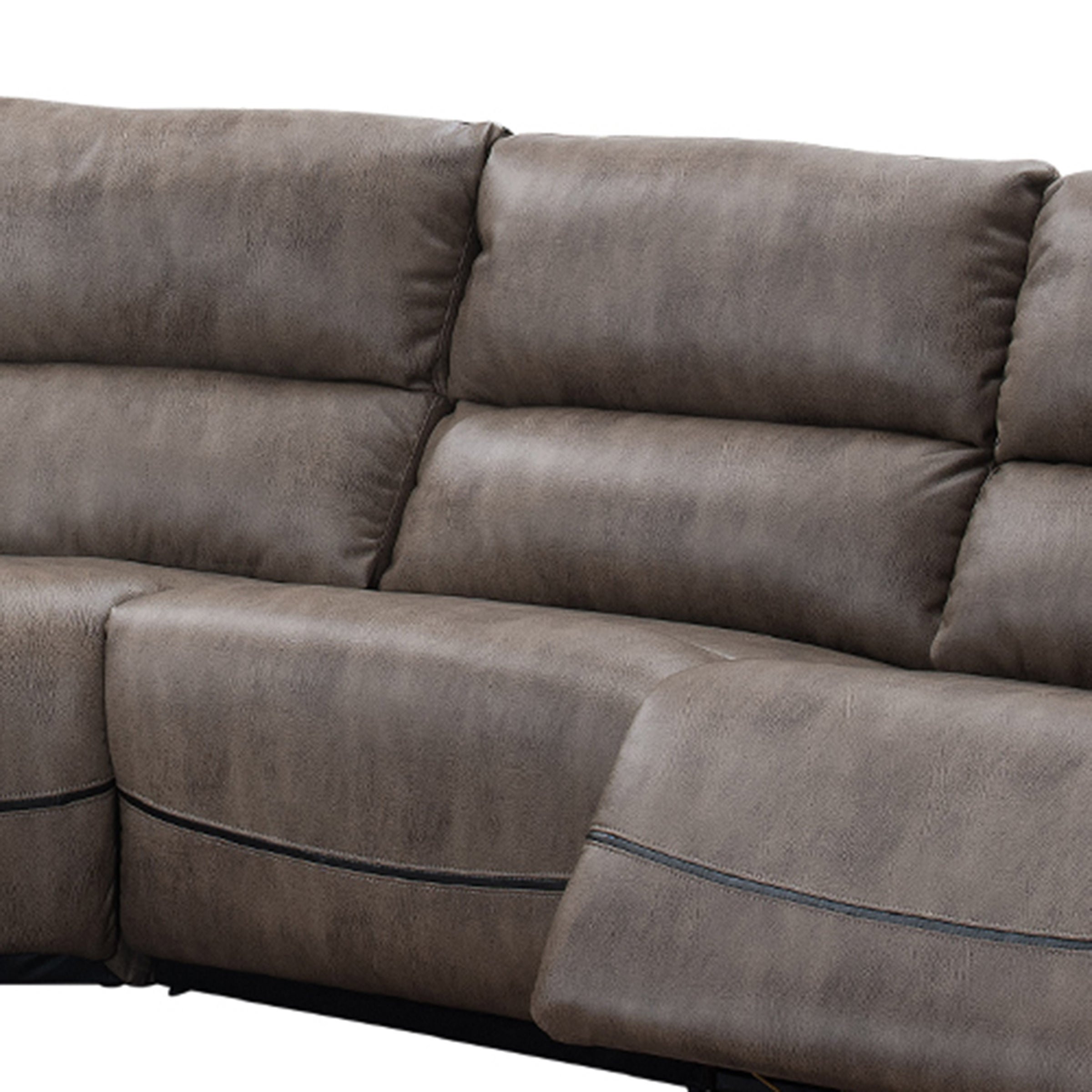 Shop Donovan 6 Piece Sectional Sofa With Power Reclining Seats And Storage  Console   On Sale   Free Shipping Today   Overstock.com   14989337
