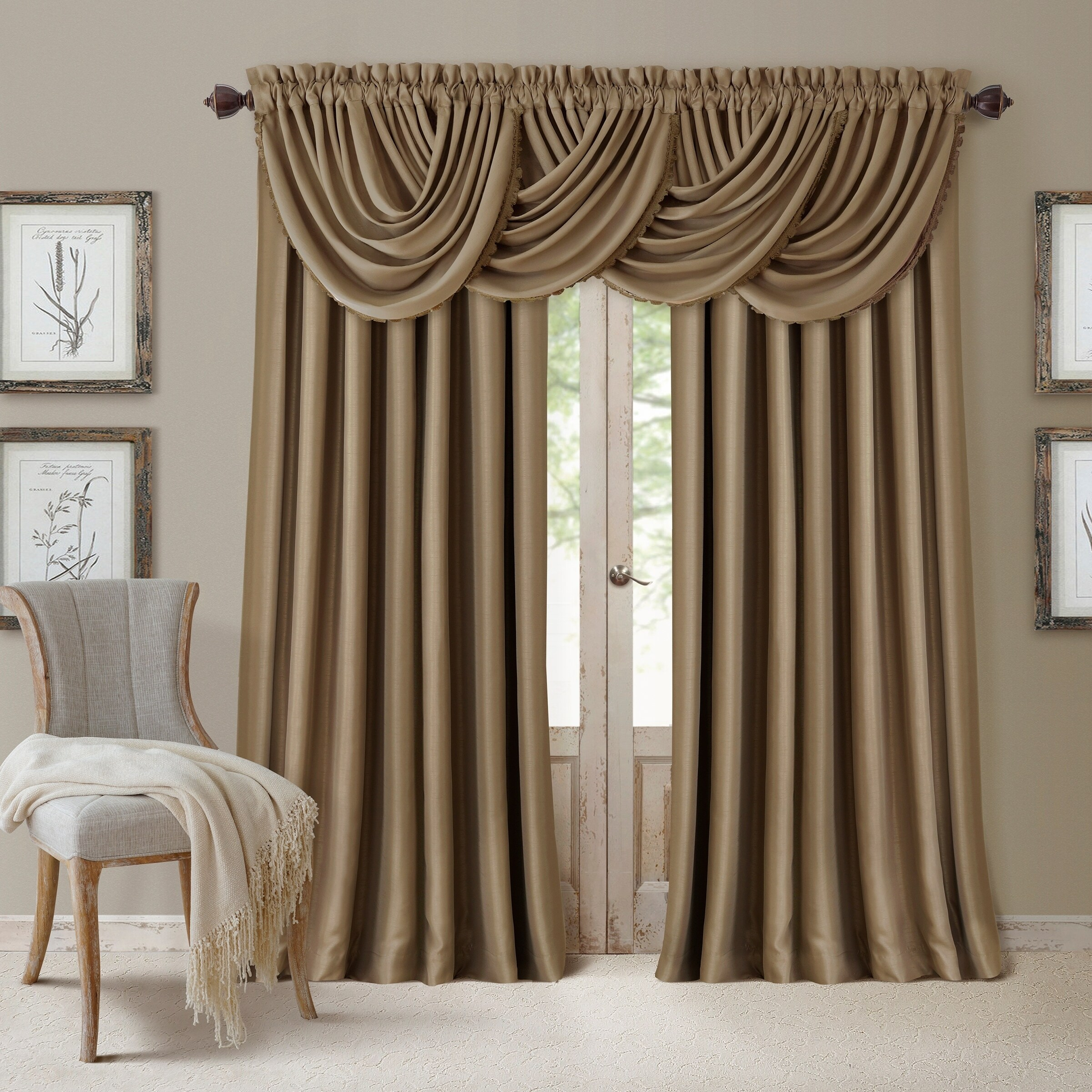 on drapes home back garden shipping panel free degeneres product overstock ellen tab shadow neutral pole top over orders