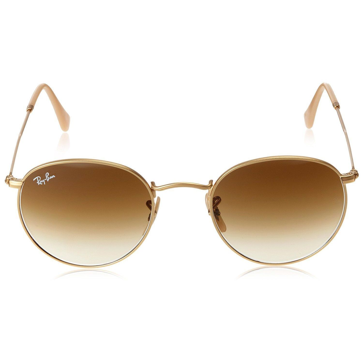 313c38c5dc Shop Ray-Ban RB3447 112 51 Unisex Round Gold Frame Light Brown Gradient  Lens Sunglasses - Ships To Canada - Overstock.ca - 15002899