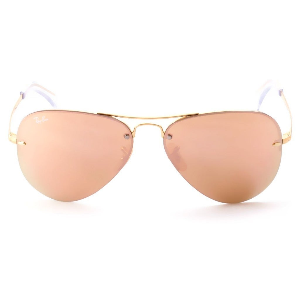 Shop Ray-Ban RB3449 001 2Y Unisex Gold Frame Copper Mirror Lens Sunglasses  - Free Shipping Today - Overstock.com - 15002988 4dcc14282e