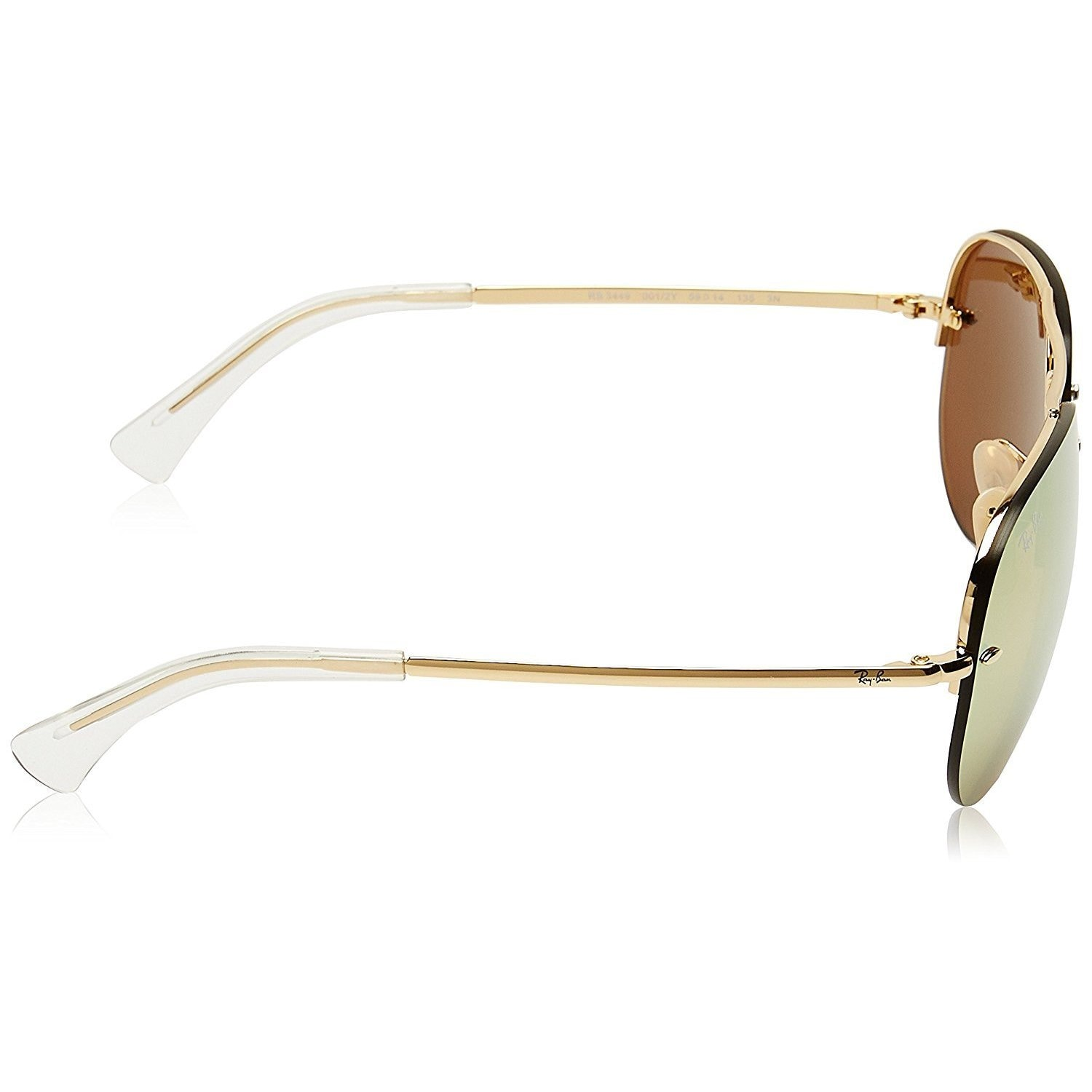 12f1e9b8621b5 Shop Ray-Ban RB3449 001 2Y Unisex Gold Frame Copper Mirror Lens Sunglasses  - Free Shipping Today - Overstock - 15002988