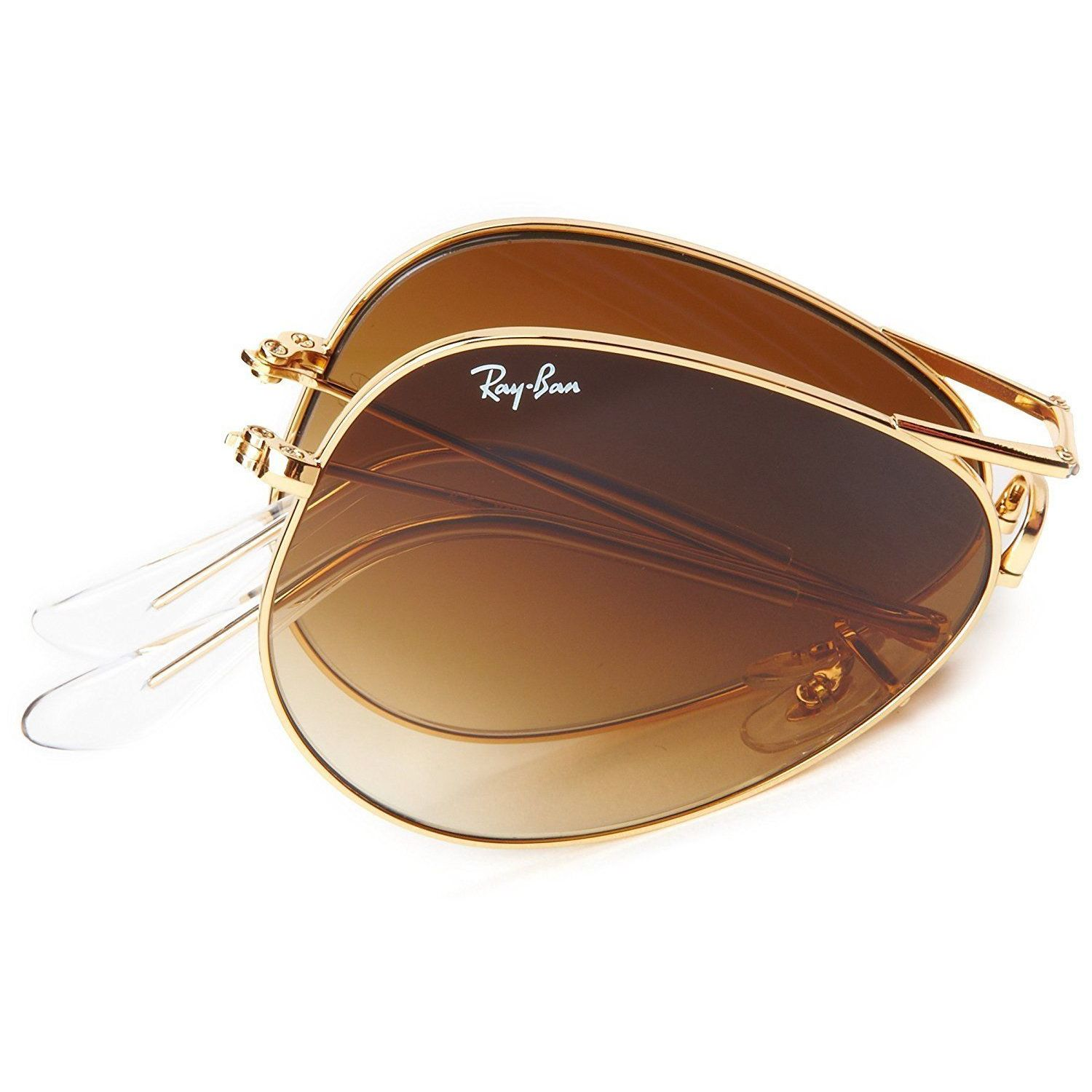 dbeb99af5a Shop Ray-Ban RB3479 001 51 Unisex Aviator Folding Gold Frame Brown Gradient  Lens Sunglasses - Free Shipping Today - Overstock - 15002993