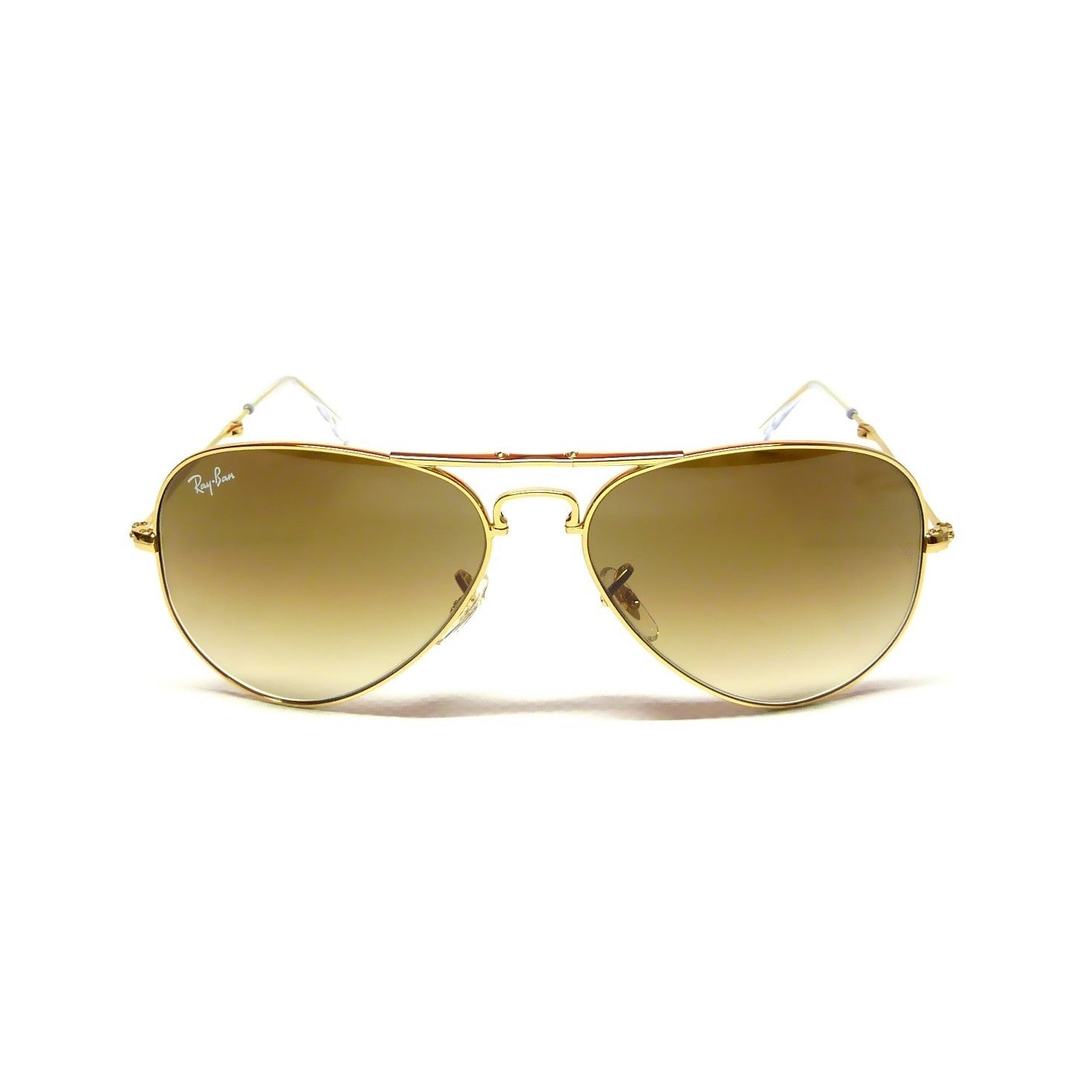 5d4cf7b277fa Shop Ray-Ban RB3479 001 51 Unisex Aviator Folding Gold Frame Brown Gradient  Lens Sunglasses - Free Shipping Today - Overstock - 15002993