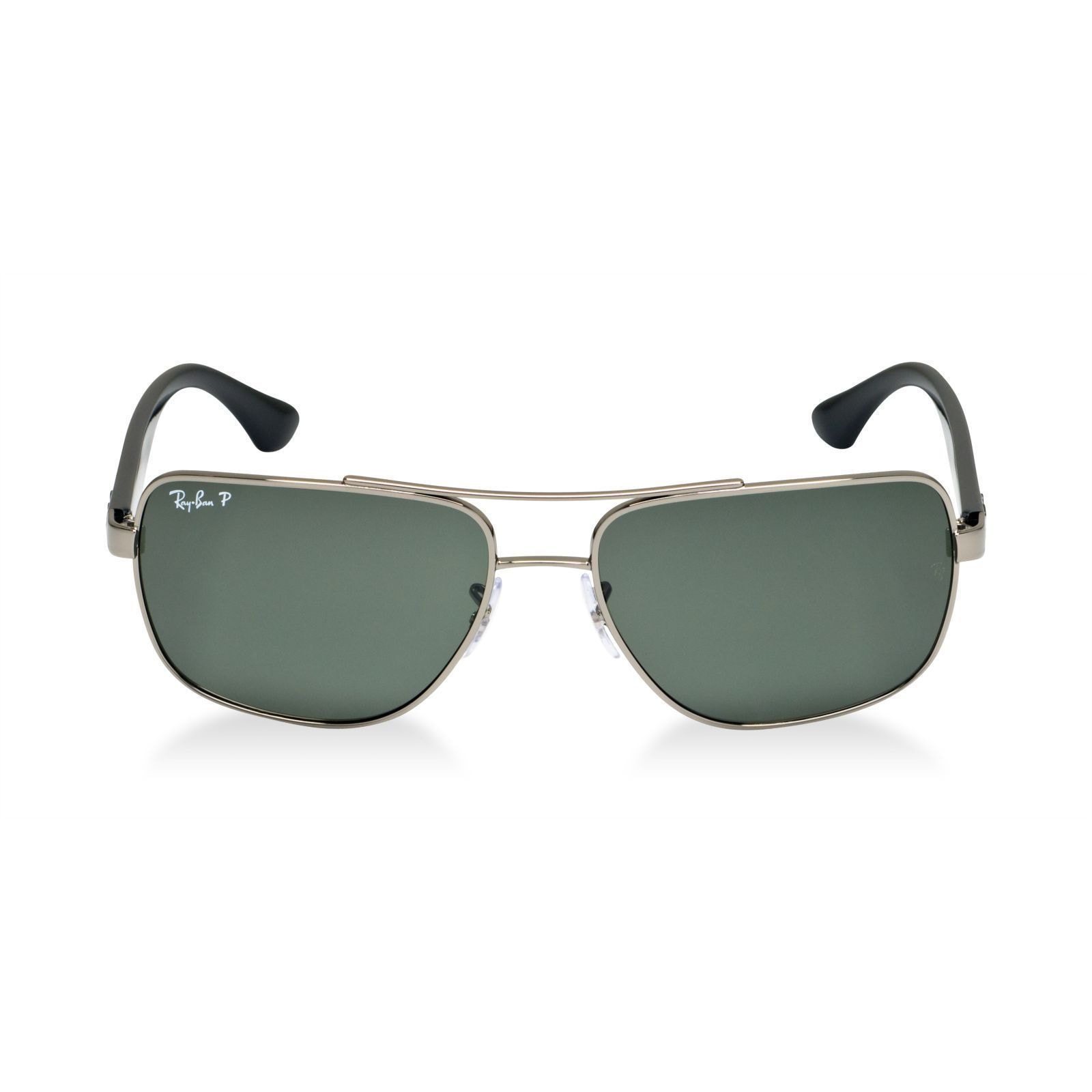 59f3ecf632a Shop Ray-Ban RB3483 004 58 Men s Gunmetal Black Frame Polarized Green Lens  Sunglasses - Free Shipping Today - Overstock - 15002995
