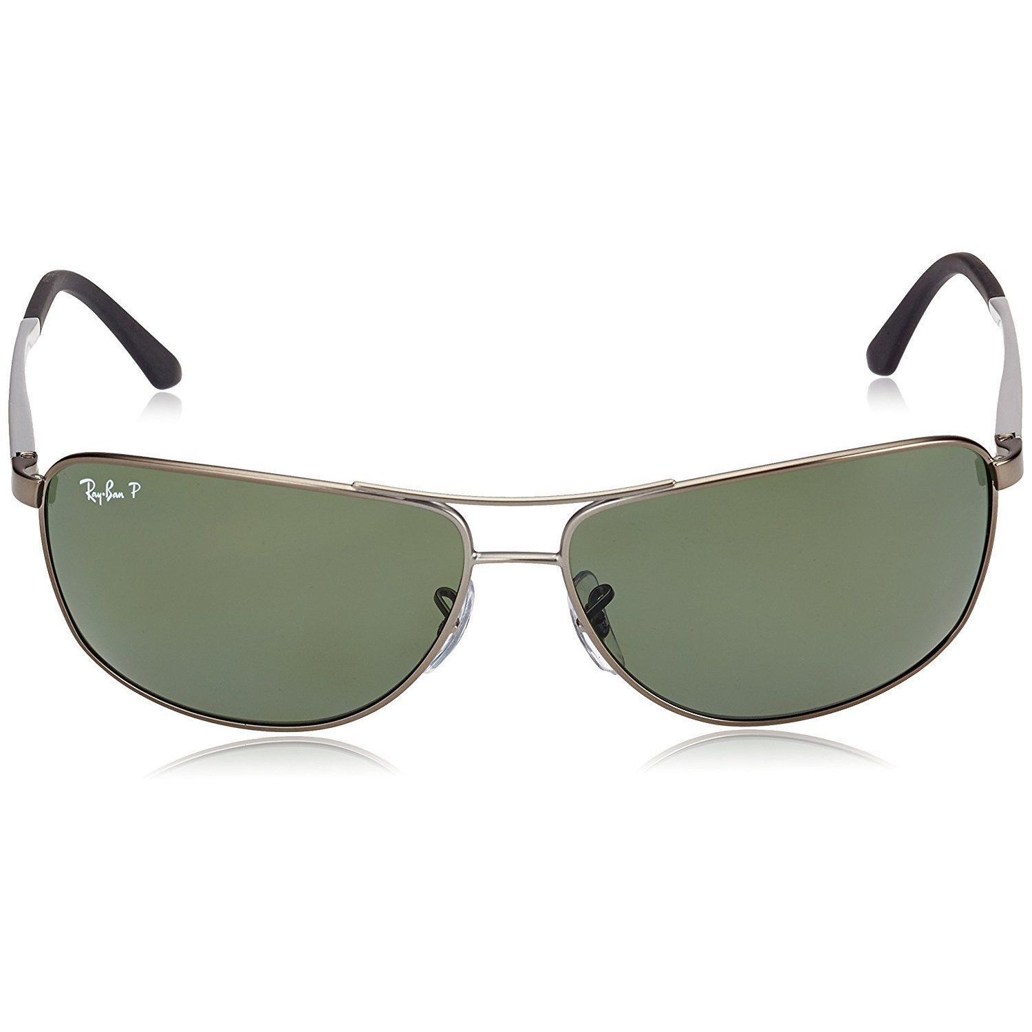 f7925c5f83b Shop Ray-Ban RB3506 029 9A Men s Gunmetal Silver Frame Polarized Green Lens  Sunglasses - Free Shipping Today - Overstock - 15003040