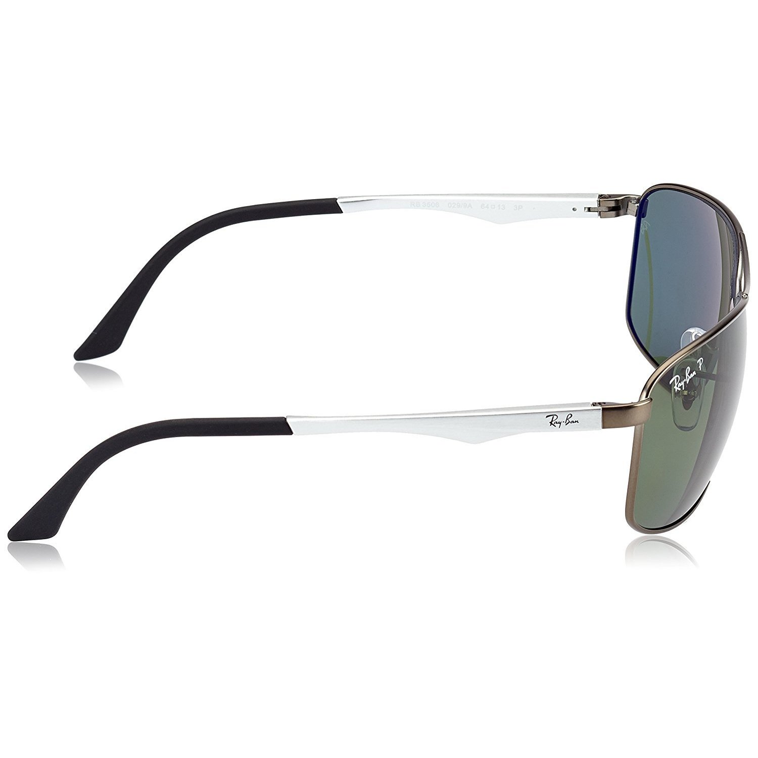f5303f8695 Shop Ray-Ban RB3506 029 9A Men s Gunmetal Silver Frame Polarized Green Lens  Sunglasses - Free Shipping Today - Overstock - 15003040
