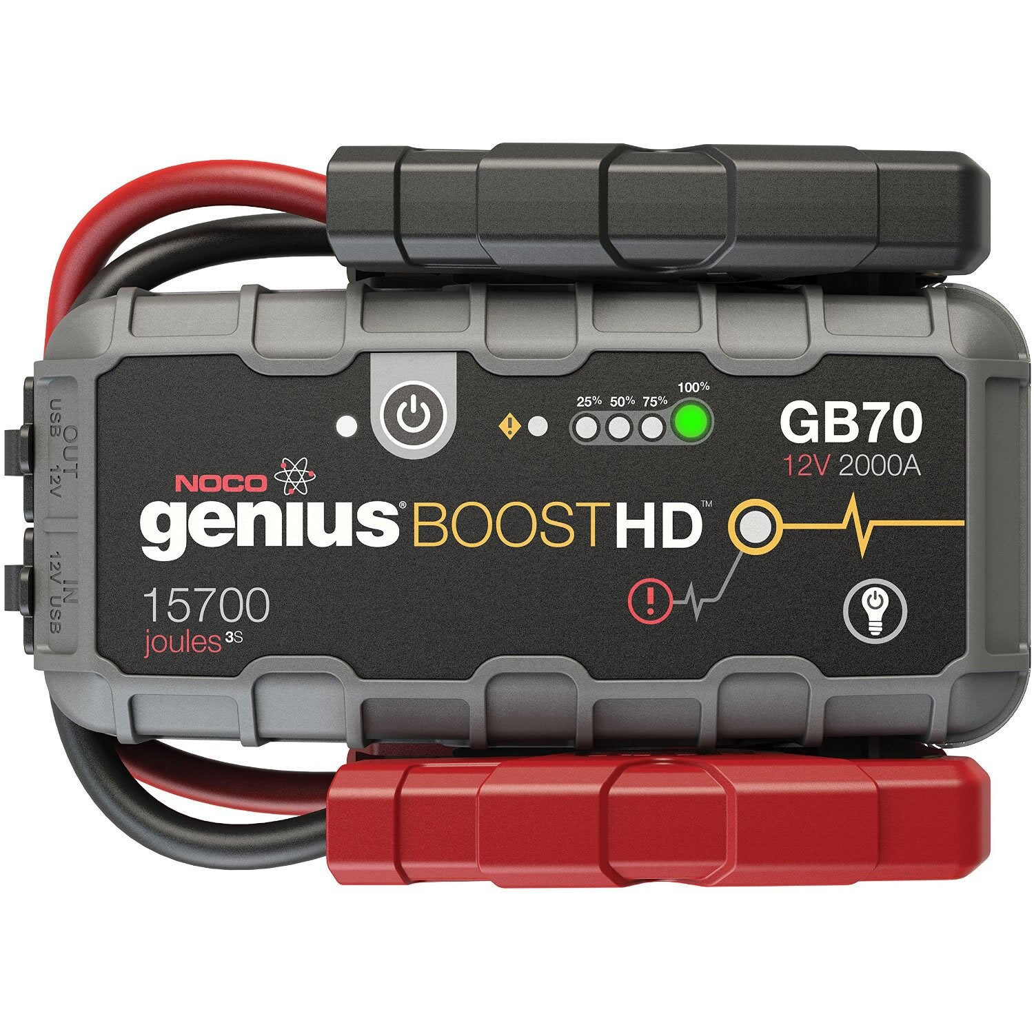 Shop NOCO Genius GB70 Boost HD 2000A UltraSafe Lithium Jump Starter - Free  Shipping Today - Overstock.com - 15003343
