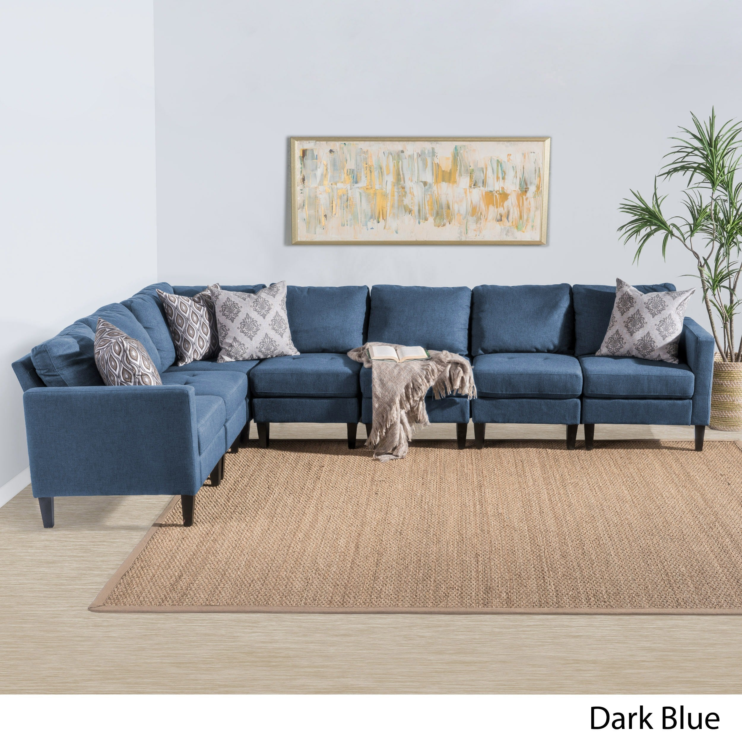 by small fabric living connected blue offer mocha idea room cozy entrancing for sofas rug beige sofa of furniture design sectional on black set curtains hook