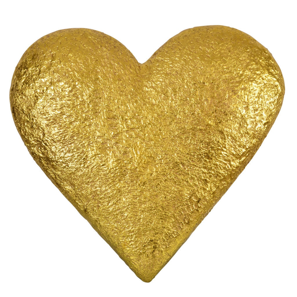 Renwil Gold Resin Heart-shaped Wall Art - Ships To Canada ...