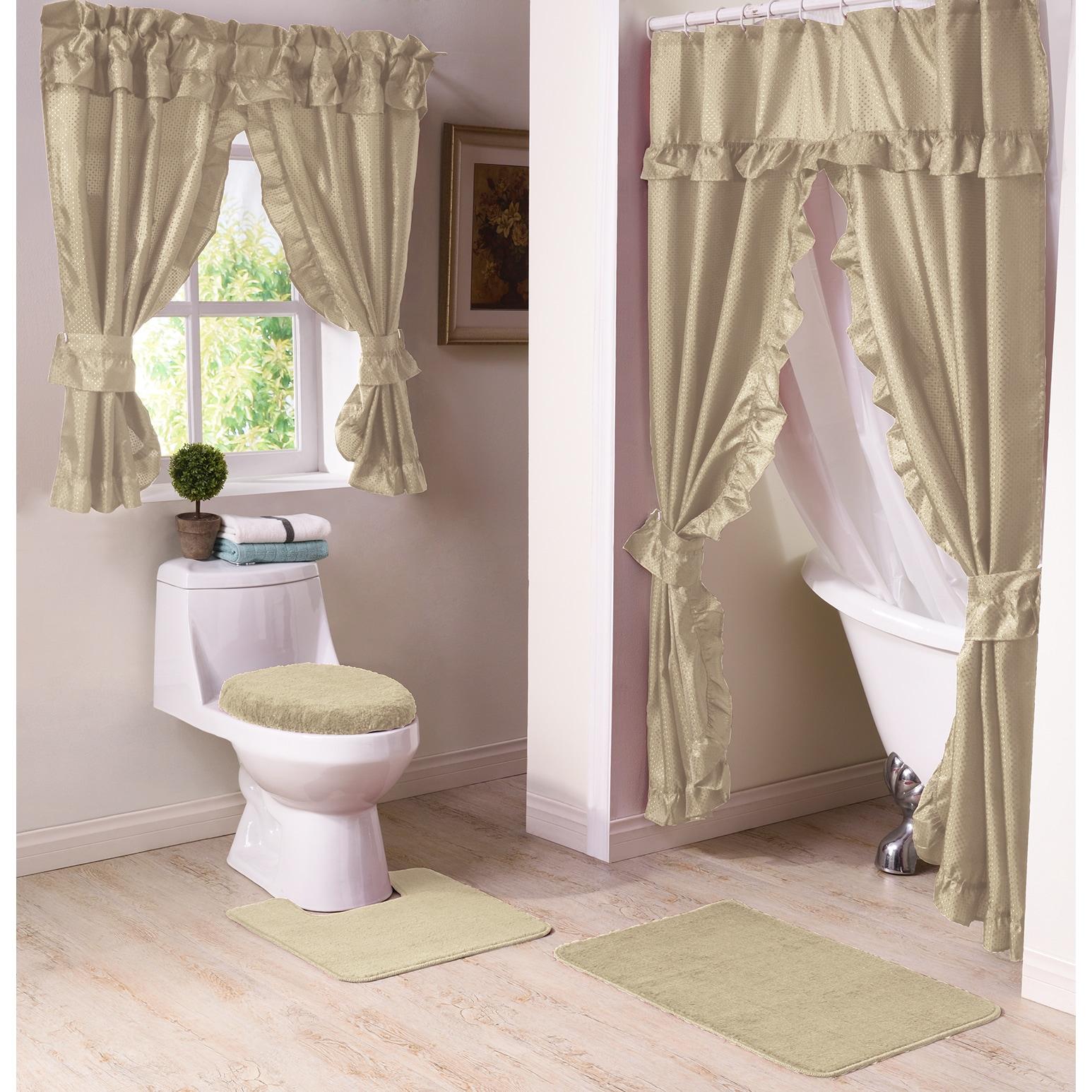 Shop Starlite 11-Piece Shower Curtain and Window Curtain Bath Set ...