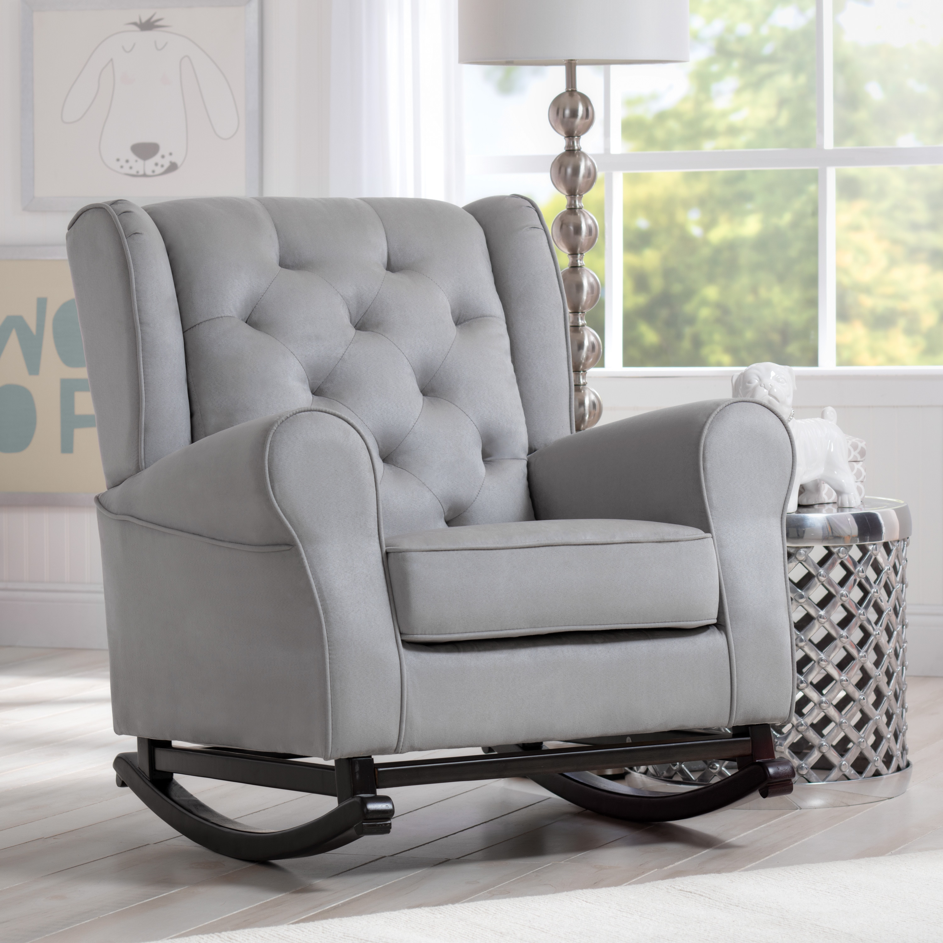 Delta Children Emma Nursery Rocking Chair Dove Grey Free Shipping Today 15020070