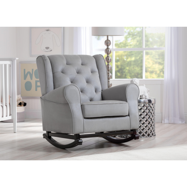 Delta Children Emma Nursery Rocking Chair Dove Grey Free Shipping