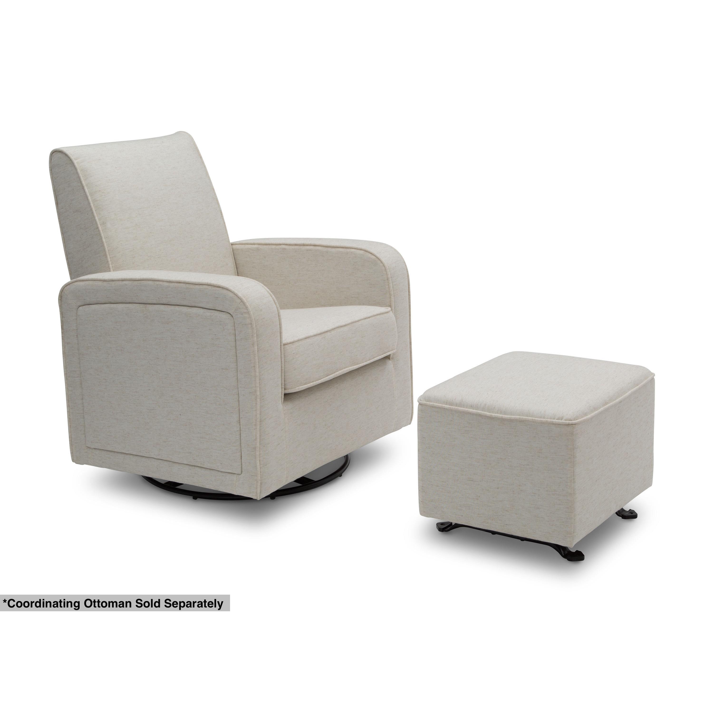 shop delta children charlotte nursery glider swivel rocker chair