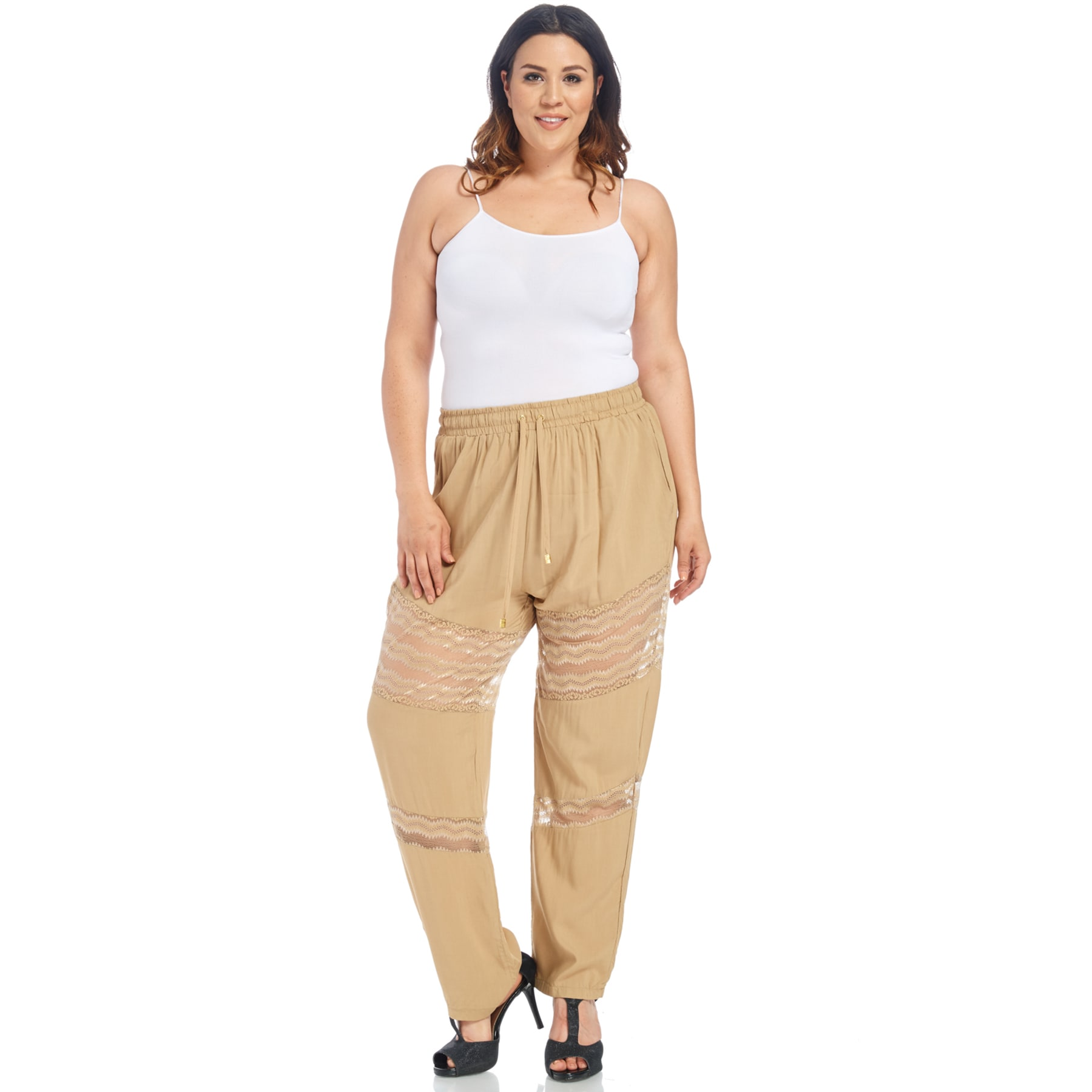 40524caf9d8 Xehar Women s Plus Size Stylish Elastic Relaxed Lace Fit Pants - Free  Shipping On Orders Over  45 - Overstock - 21523216