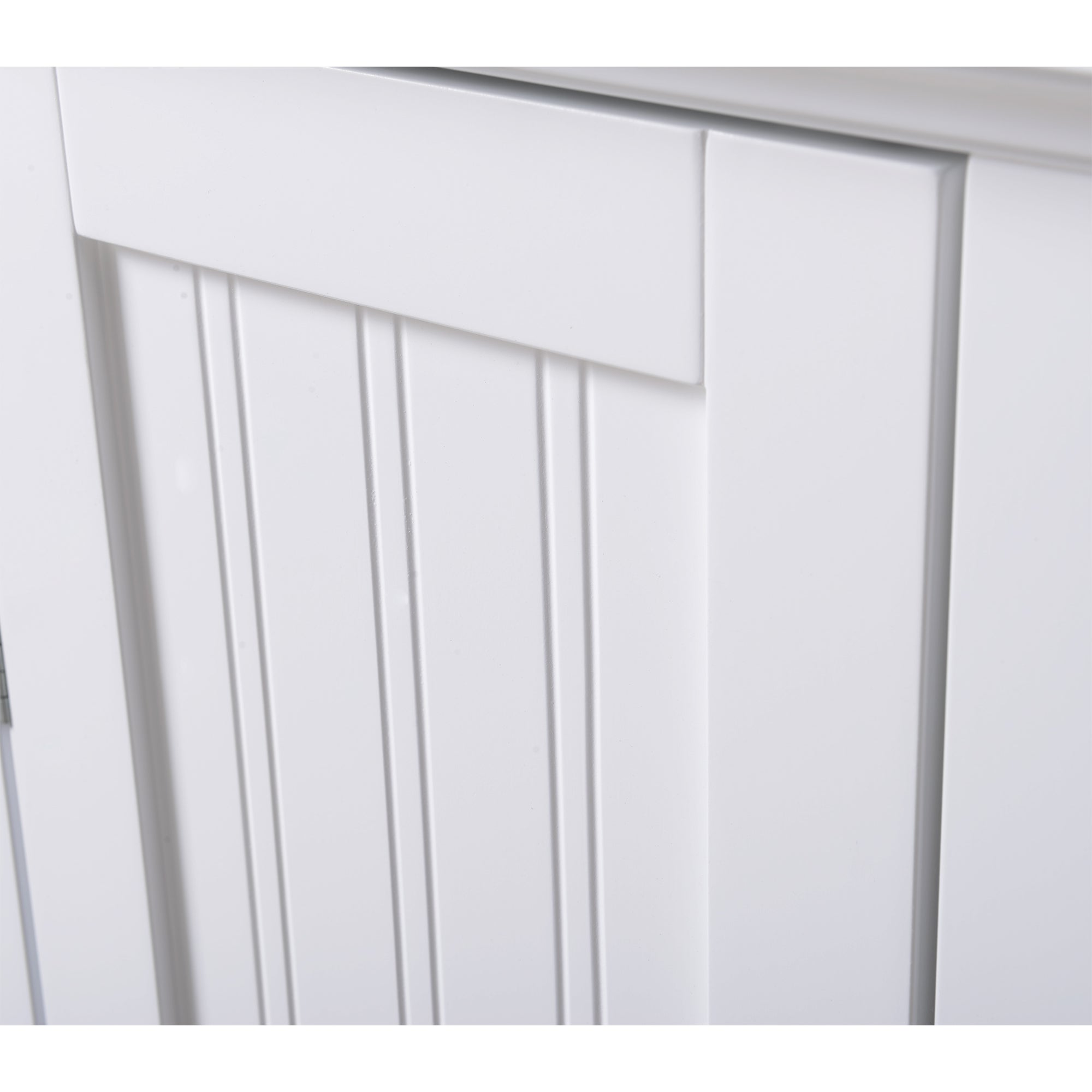 OS Home and Office White Wood One Door Kitchen Storage Pantry - Free ...