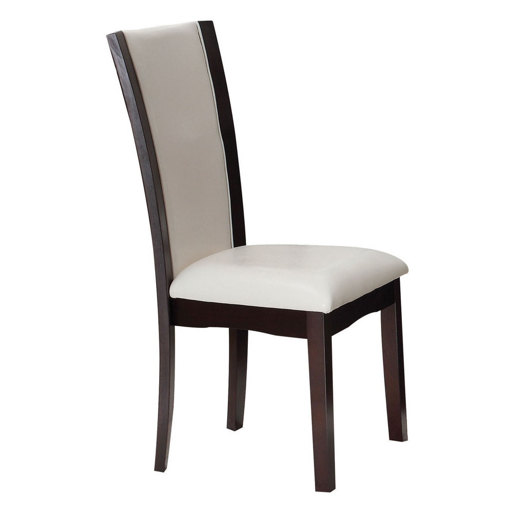 Shop acme furniture malik white espresso dining chairs set of 2 free shipping today overstock com 15030073
