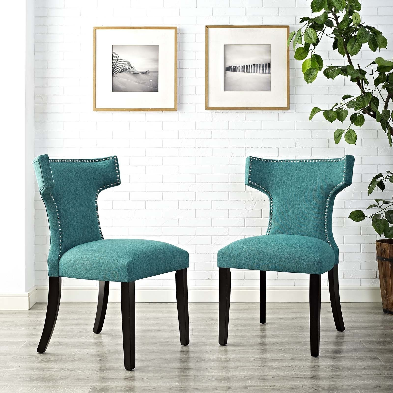 Shop Modway Fabric Curve Dining Chair (Set of 2) - Free Shipping ...
