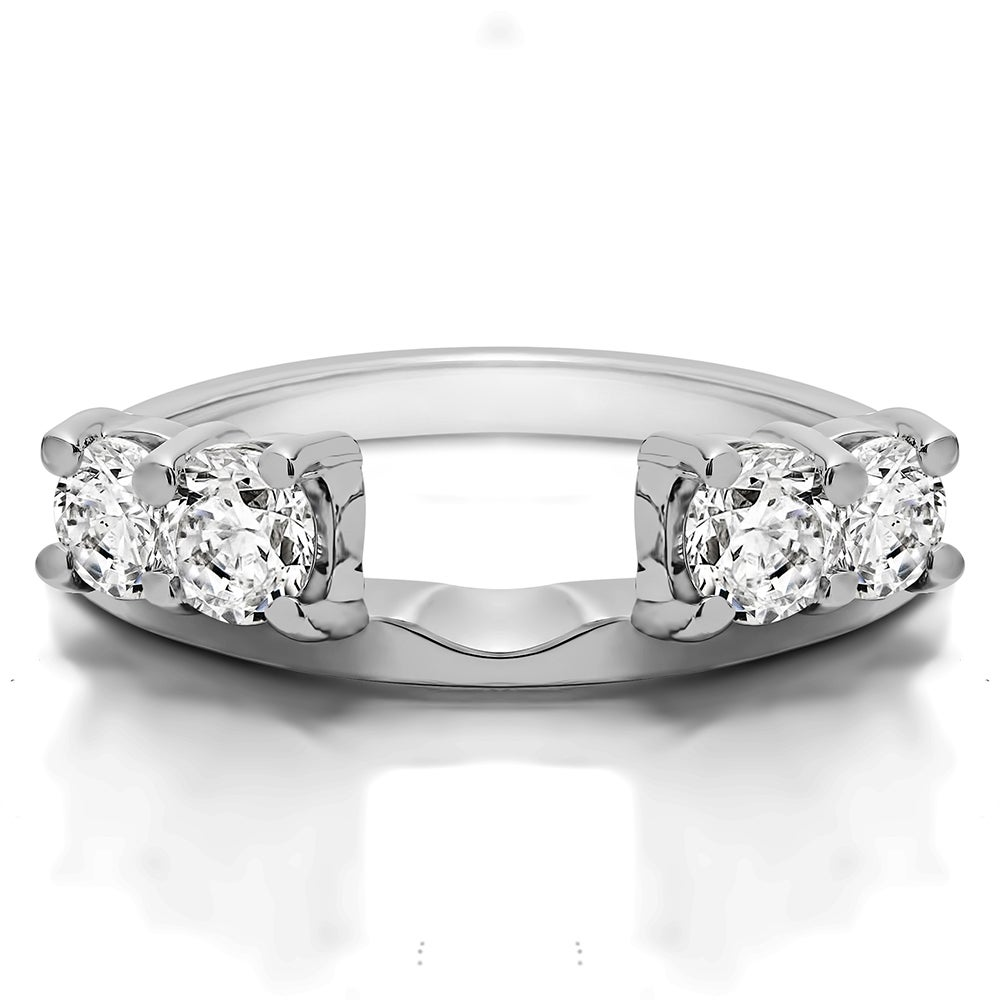Shop 10k White Gold Traditional Style Ring Wrap Enhancer With