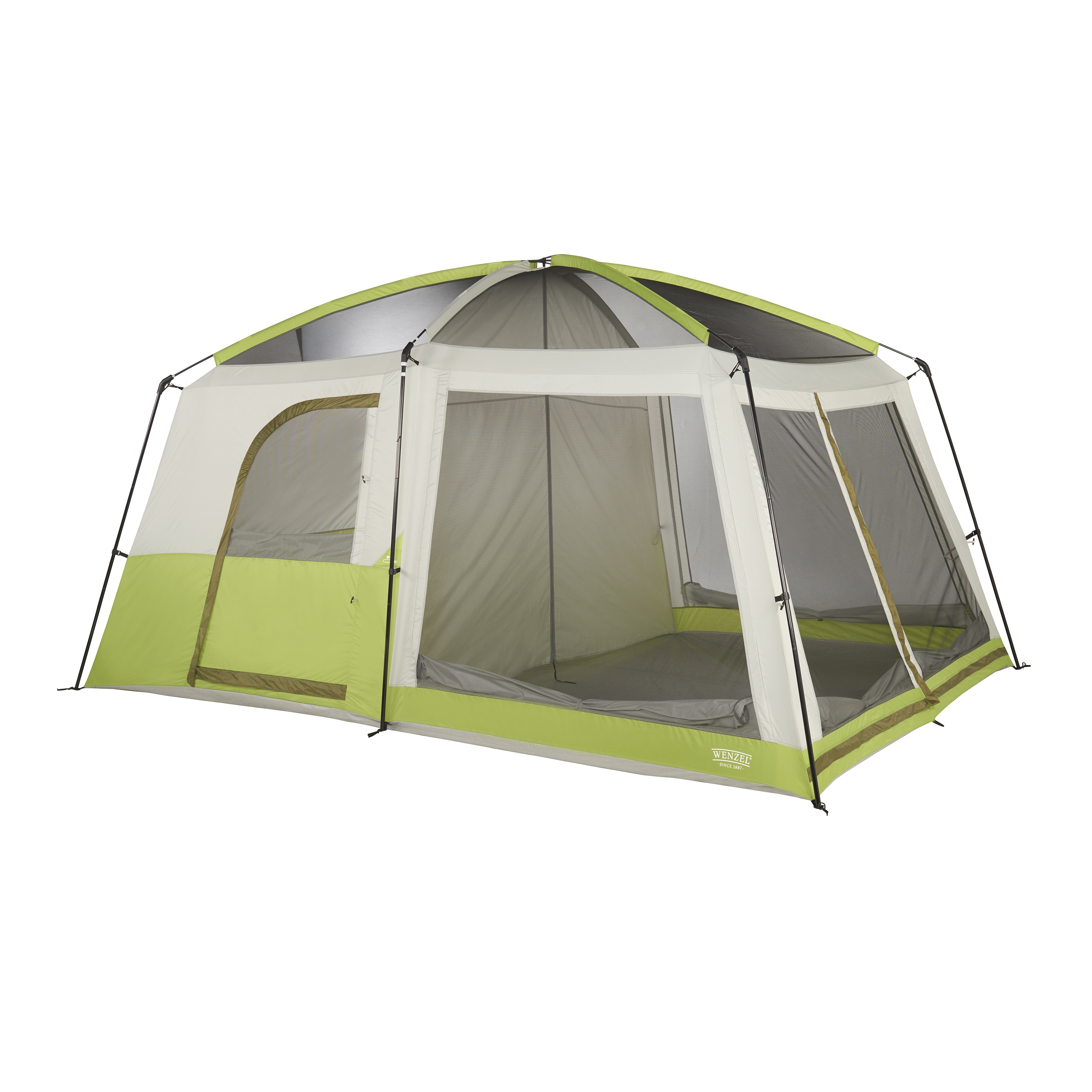 Wenzel Eldorado Green 8-person Water-resistant Cabin Tent - Free Shipping Today - Overstock.com - 21528777  sc 1 st  Overstock.com & Wenzel Eldorado Green 8-person Water-resistant Cabin Tent - Free ...