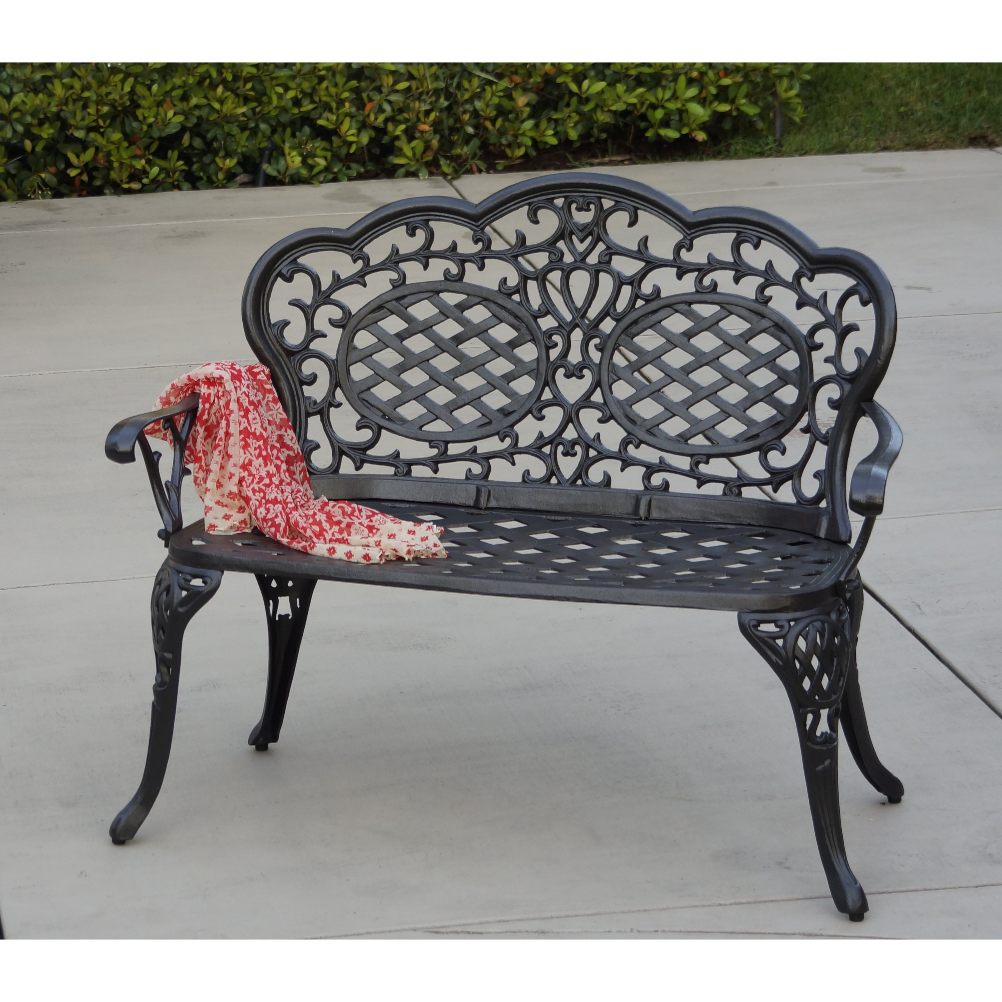 Attrayant Shop Plazzo Cast Aluminum Garden Bench   Free Shipping Today    Overstock.com   15049428