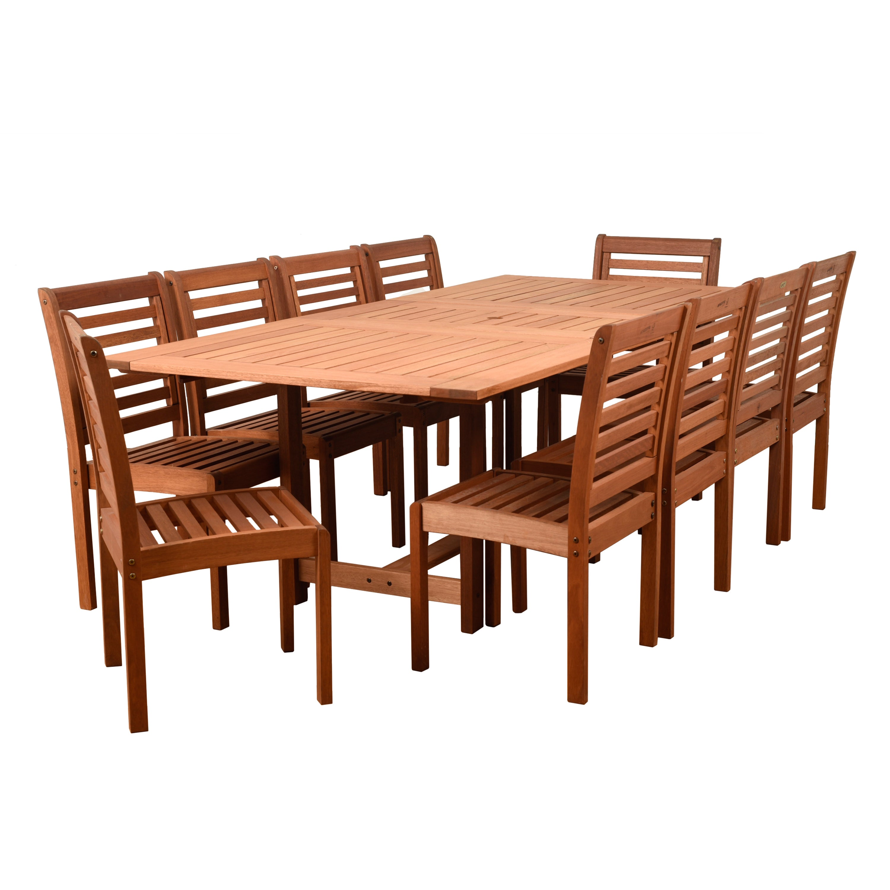 Merveilleux Shop Amazonia Nadia 11 Piece Eucalyptus Rectangular Patio Dining Set   Free  Shipping Today   Overstock.com   15050005