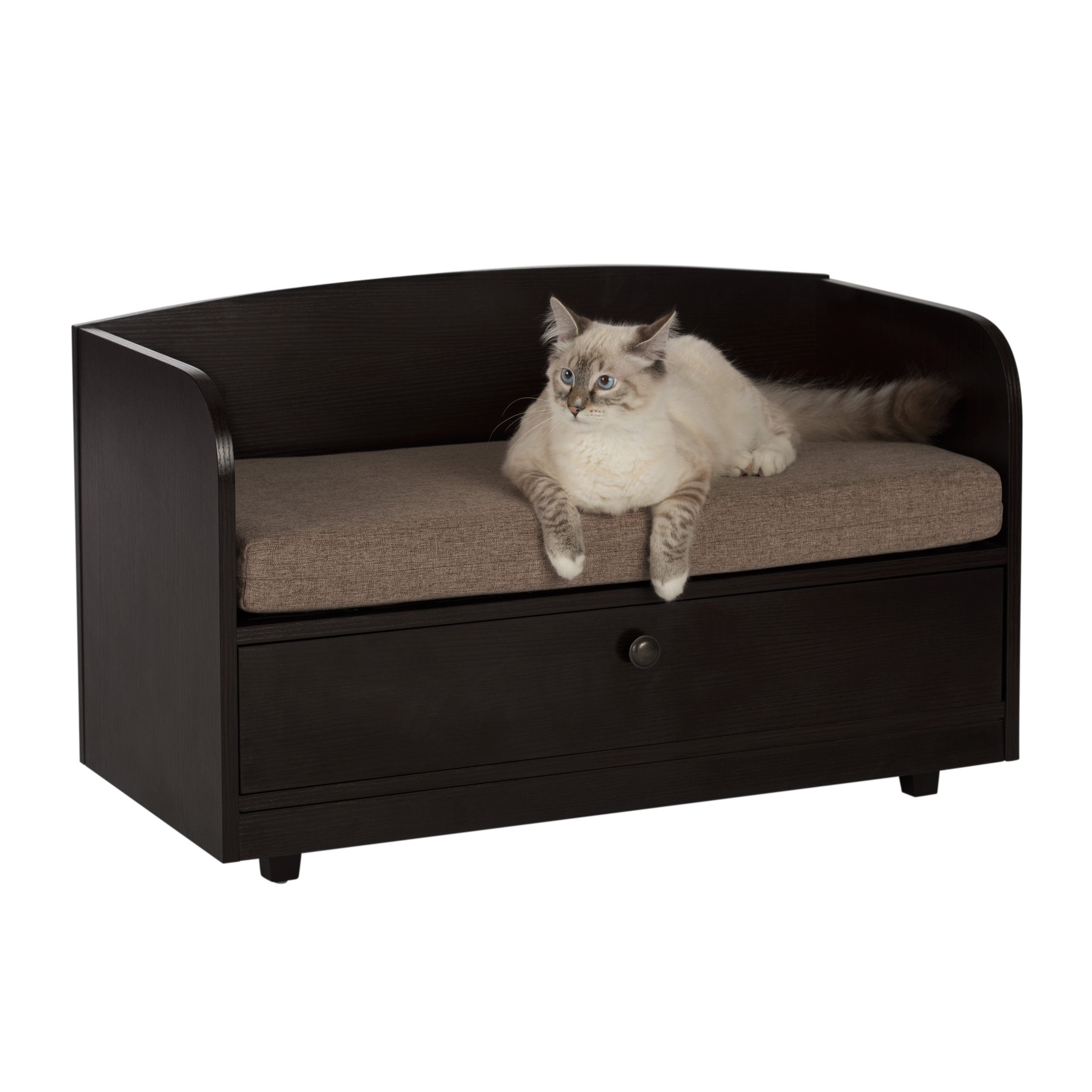 Shop Studio Designs Paws U0026 Purrs Pet Bed With Storage Drawer   Free  Shipping Today   Overstock.com   15050473