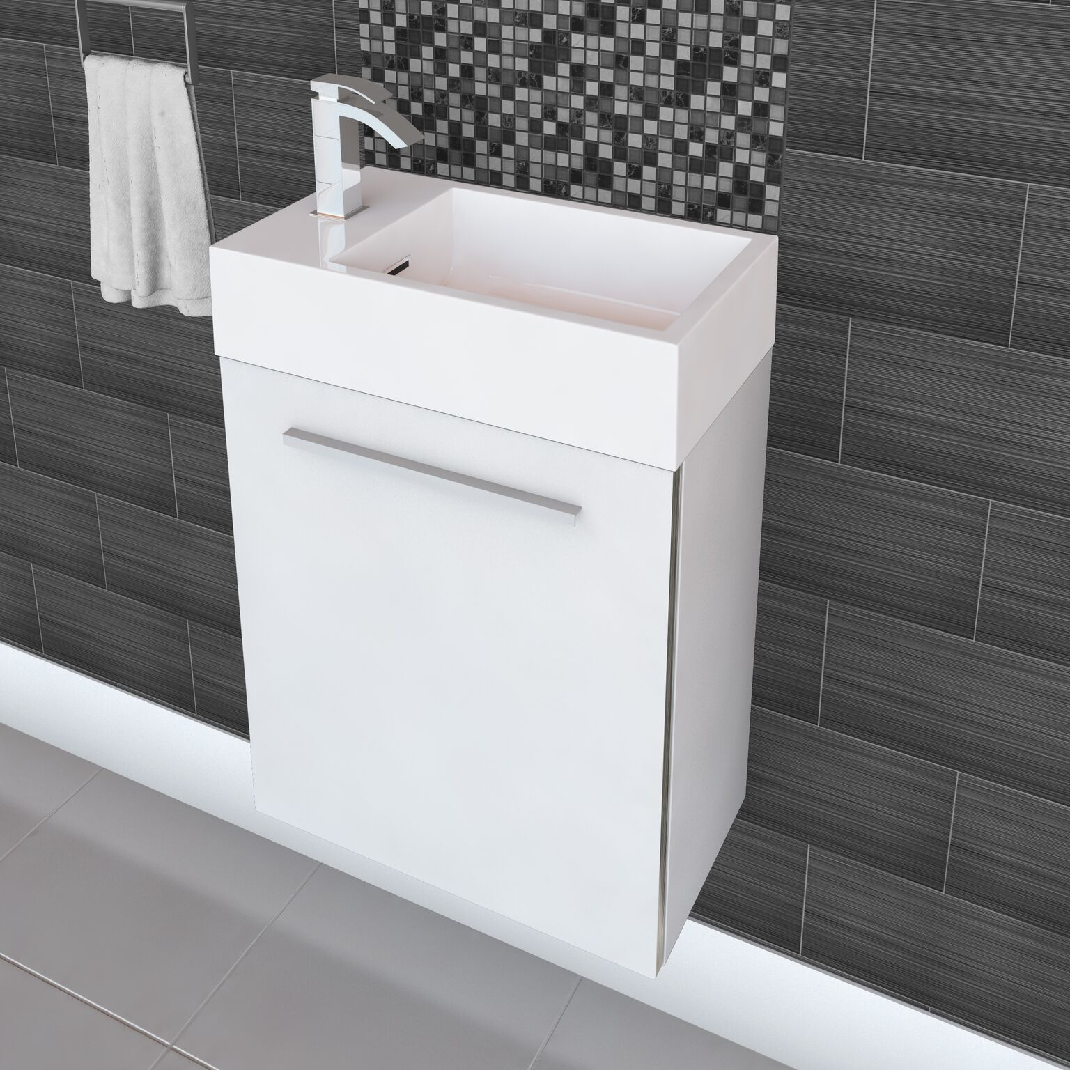 Shop Cutler Kitchen U0026 Bath Boutique 18 Inch Space Saver Vanity   Free  Shipping Today   Overstock.com   15052547
