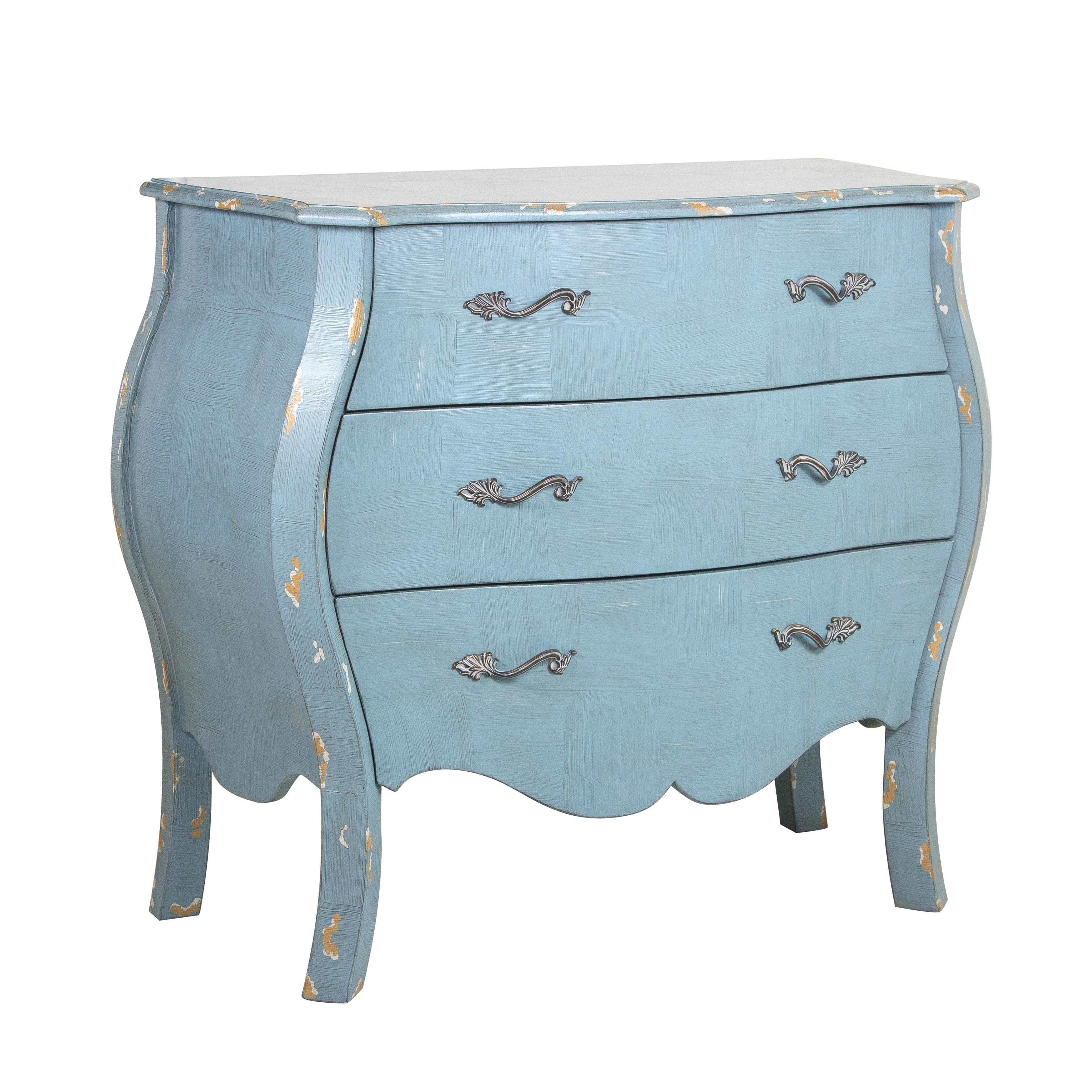 Shop Distressed French Blue Drawer Chest - Free Shipping Today ...
