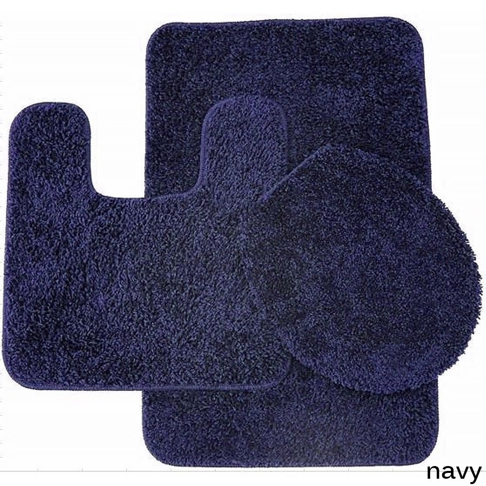Florence 3 Piece Bathroom Rug and Toilet Seat Cover Set- Assorted ...