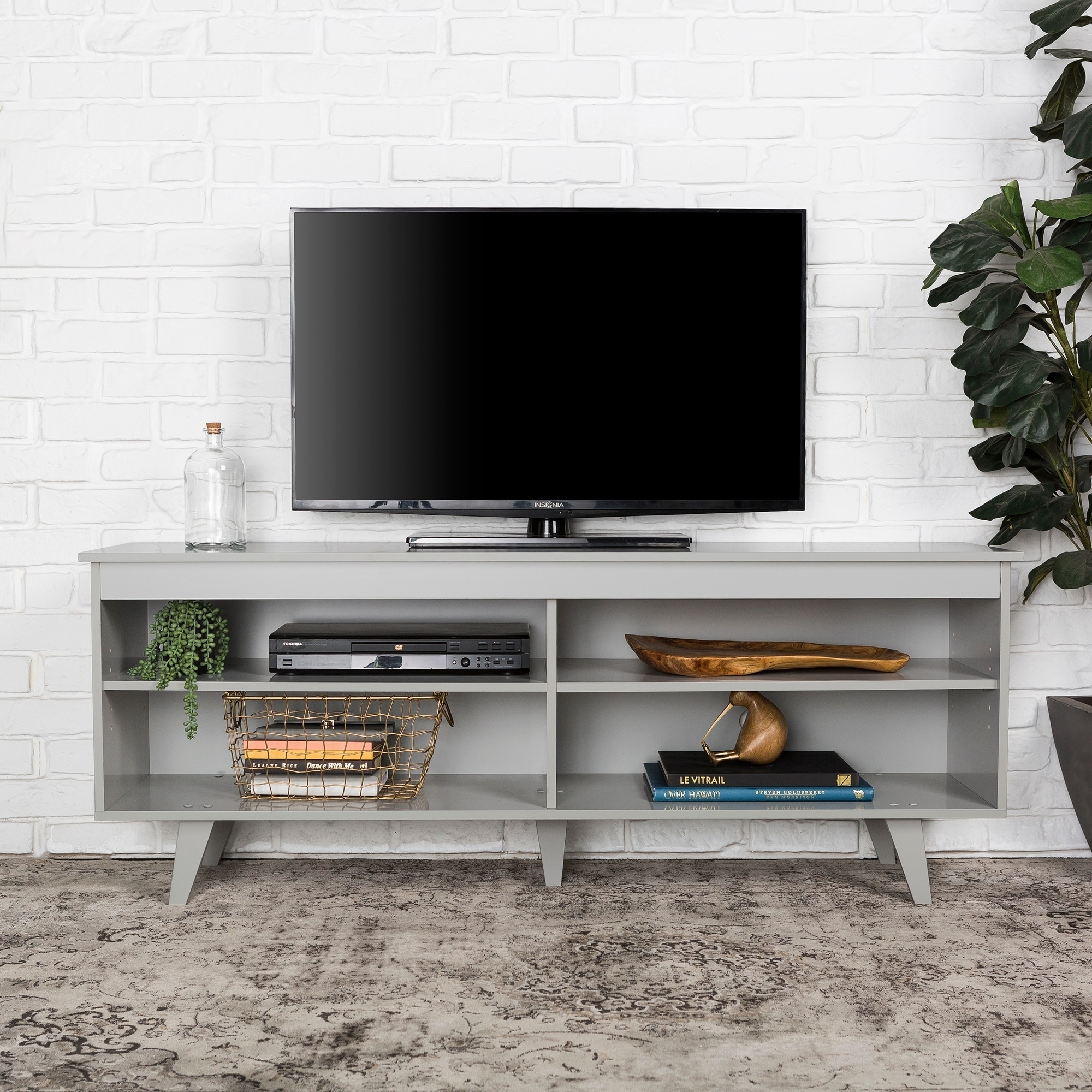 Shop 58 inch Wood Simple Contemporary Console