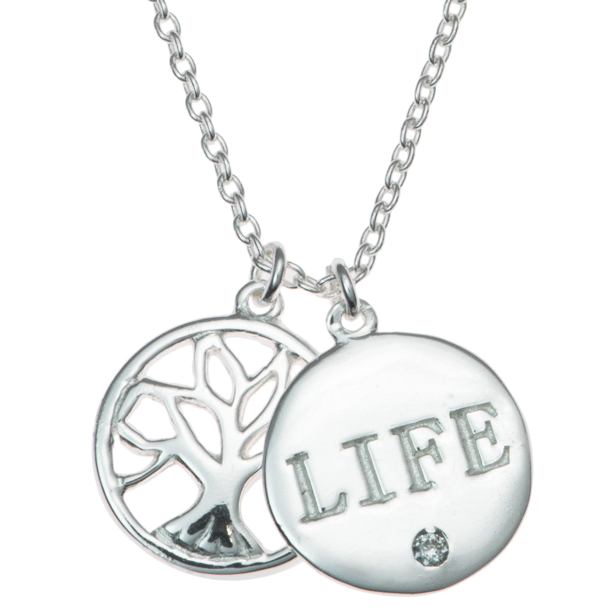 euvella lrg silver necklace life sterling large of tree product