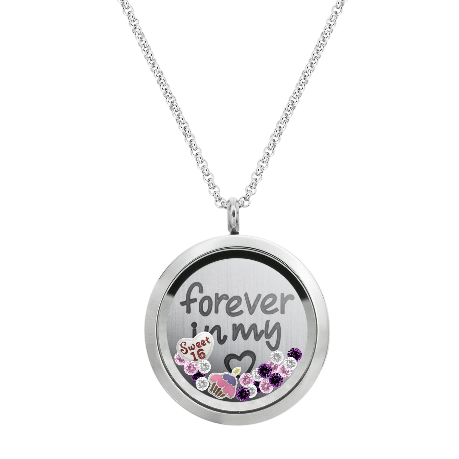 silver lockets necklace photo gift charm locket details swinging
