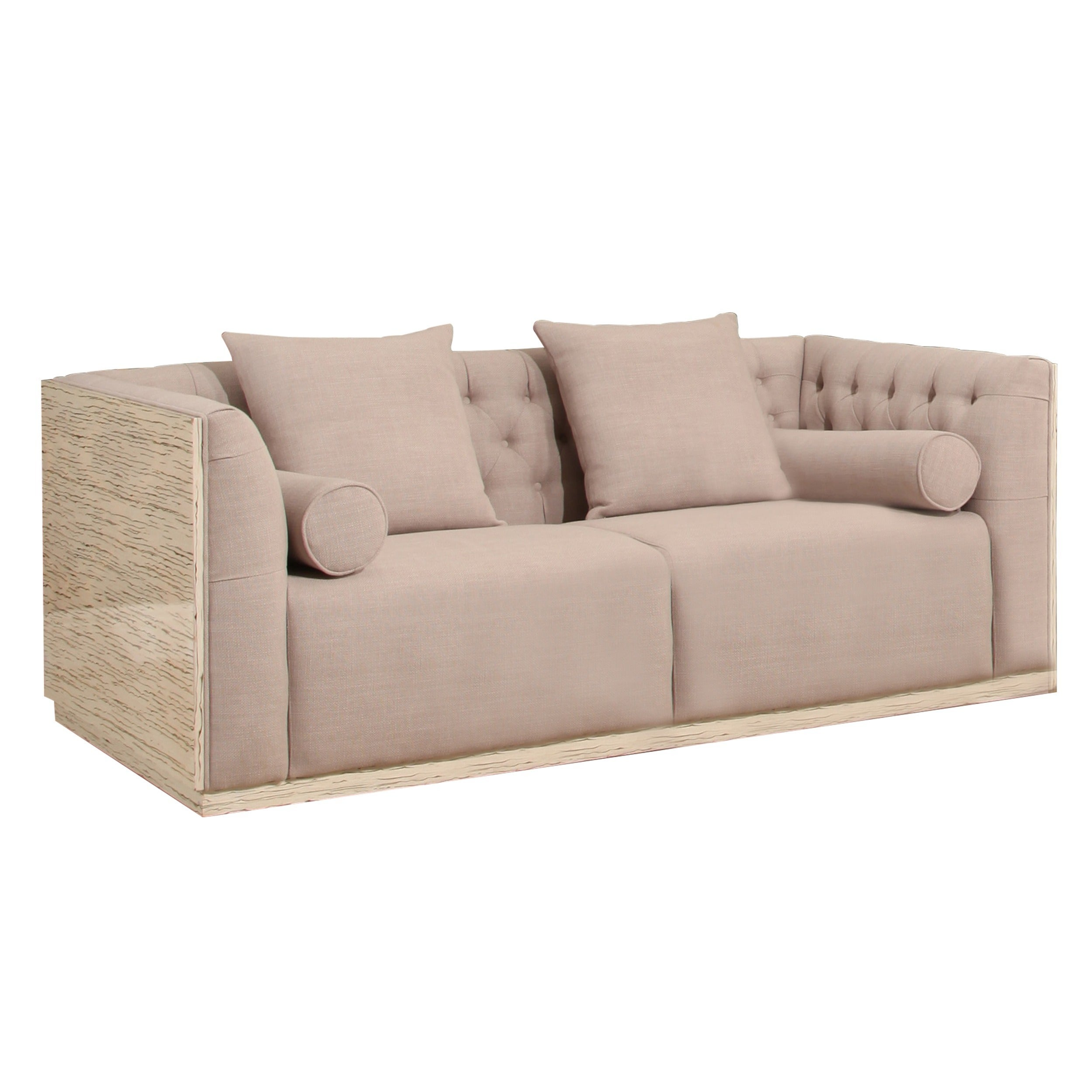 Abbyson Crystal Wood Shell Sofa Free Shipping Today Overstock