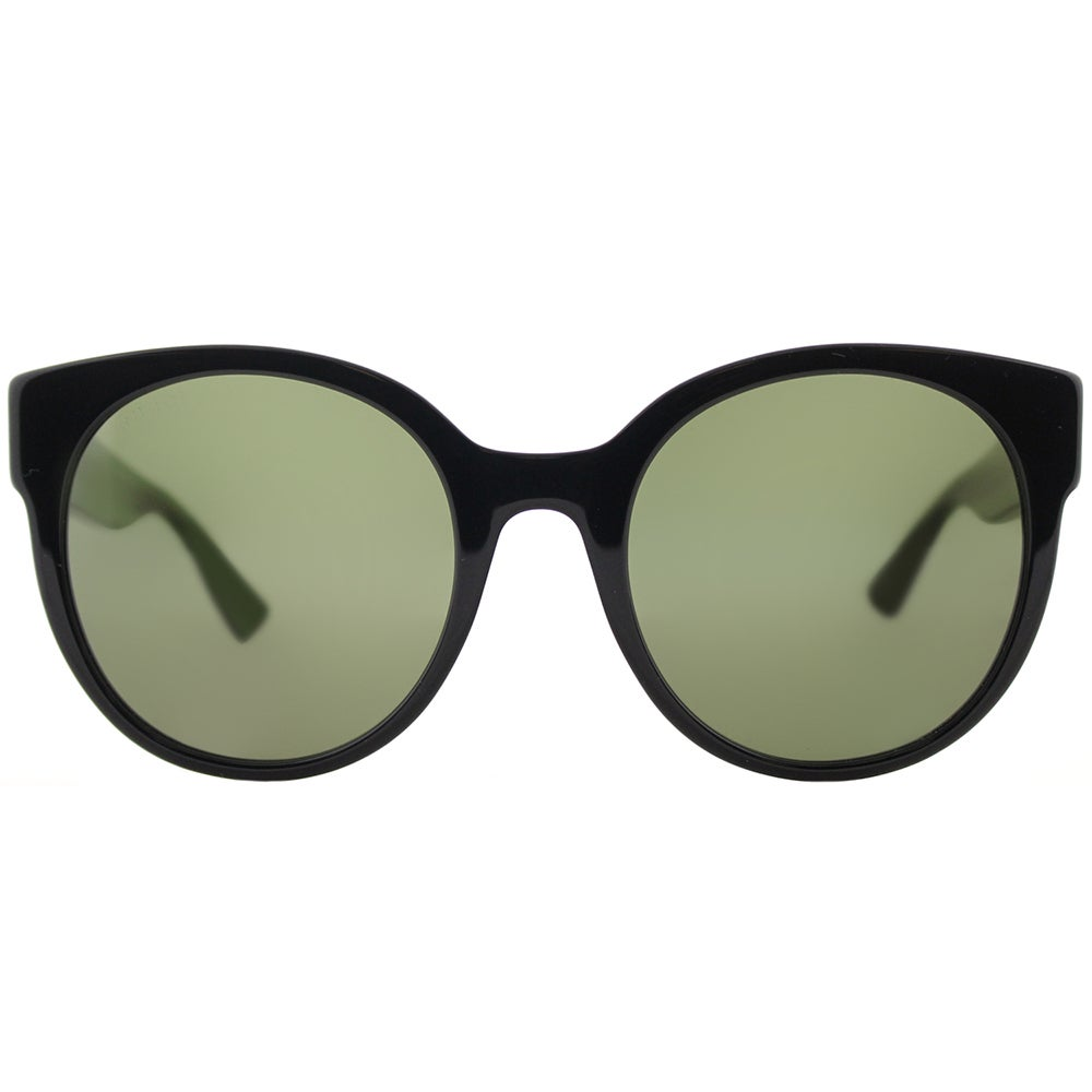 2489331cd4 Shop Gucci GG 0035S 002 Dark Havana Plastic Round Sunglasses with Green  Lenses - Free Shipping Today - Overstock - 15074606