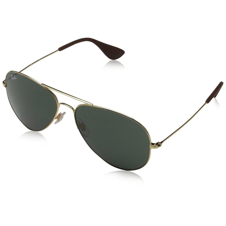 b2c199e48d Ray-Ban RB3558 001 71 Unisex Gold Frame Green Classic Lens Sunglasses