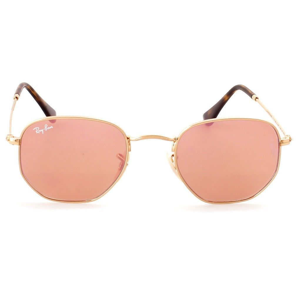2c8255d57f Shop Ray-Ban Hexagonal RB3548N 001 Z2 Men s Gold Frame Copper Flash Lens  Sunglasses - Free Shipping Today - Overstock - 15079008