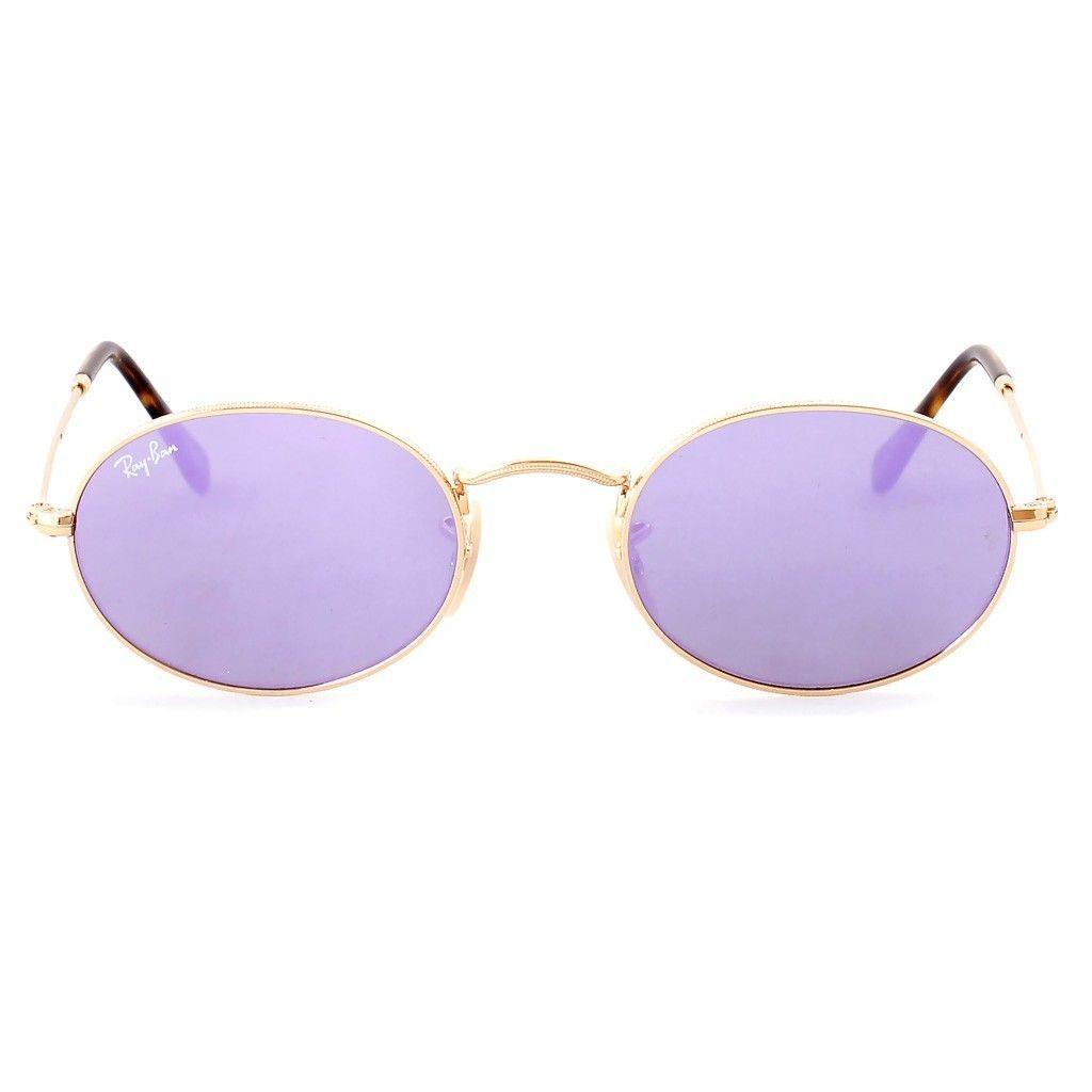 eb80830c97 Shop Ray-Ban Oval RB3547N 001 8O Unisex Gold Frame Lilac Mirror Lens  Sunglasses - Free Shipping Today - Overstock - 15079097