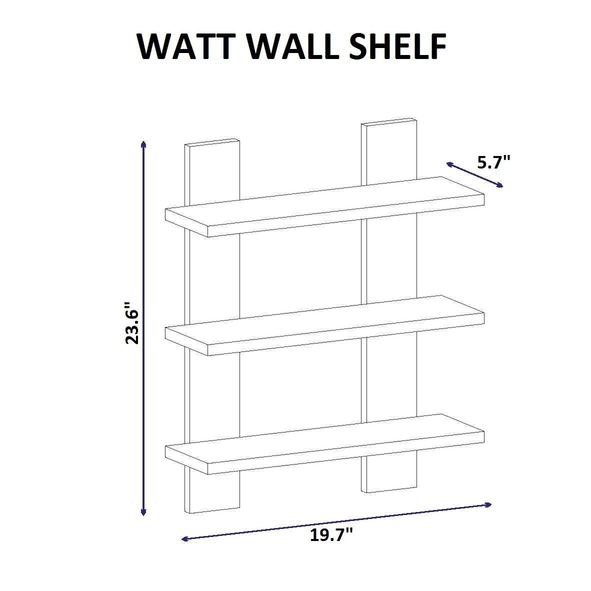 Watt 17 x 24 x 6 modern minimalist wall shelf free shipping watt 17 x 24 x 6 modern minimalist wall shelf free shipping today overstock 21568917 ccuart Image collections