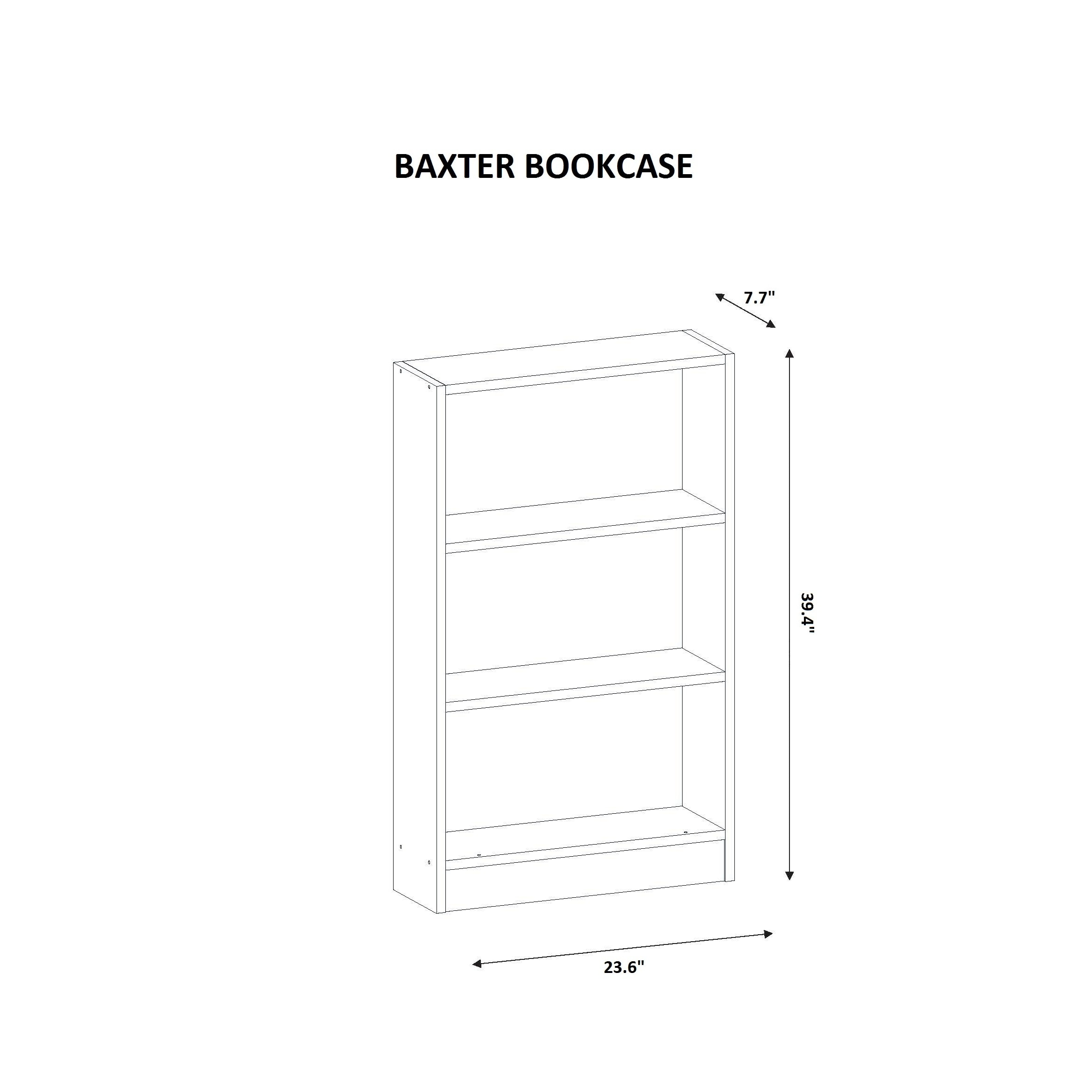 Baxter Wood 24- x 39- x 8-inch Bookcase - Free Shipping Today ...