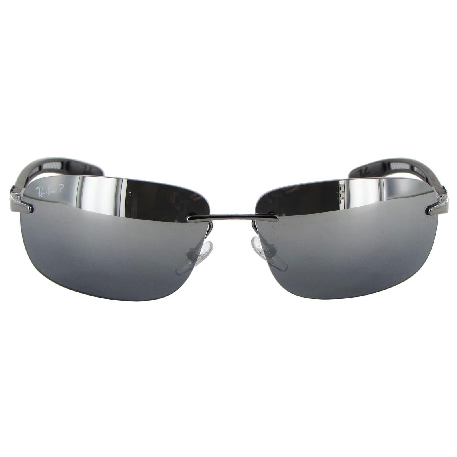 201ee1aecf Shop Ray Ban Tech Carbon Fibre 8303 Mens Silver Frame Black Polarized Lens  Sunglasses - Free Shipping Today - Overstock - 15079250