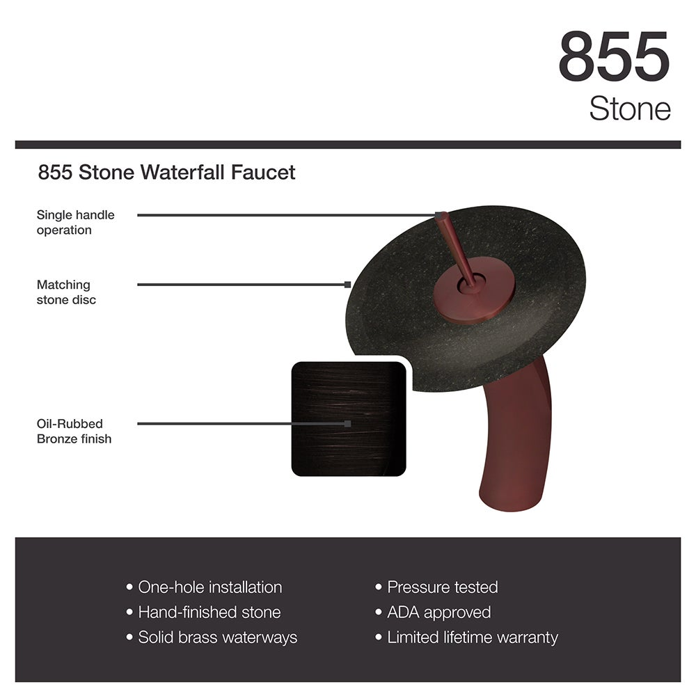 855 Shanxi Black Granite Sink with Faucet and Pop-Up Drain in Oil ...