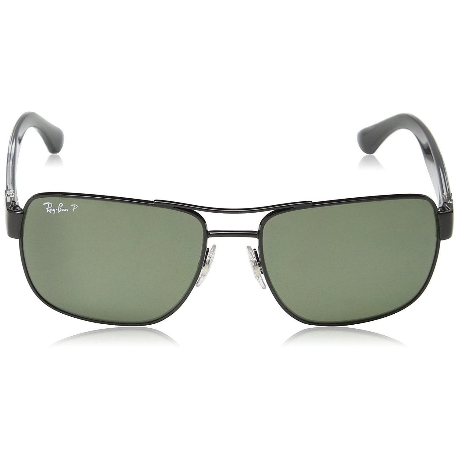 13f54ebabc Shop Ray-Ban RB3530 002 9A Men s Black Frame Polarized Green Lens  Sunglasses - Free Shipping Today - Overstock - 15079449