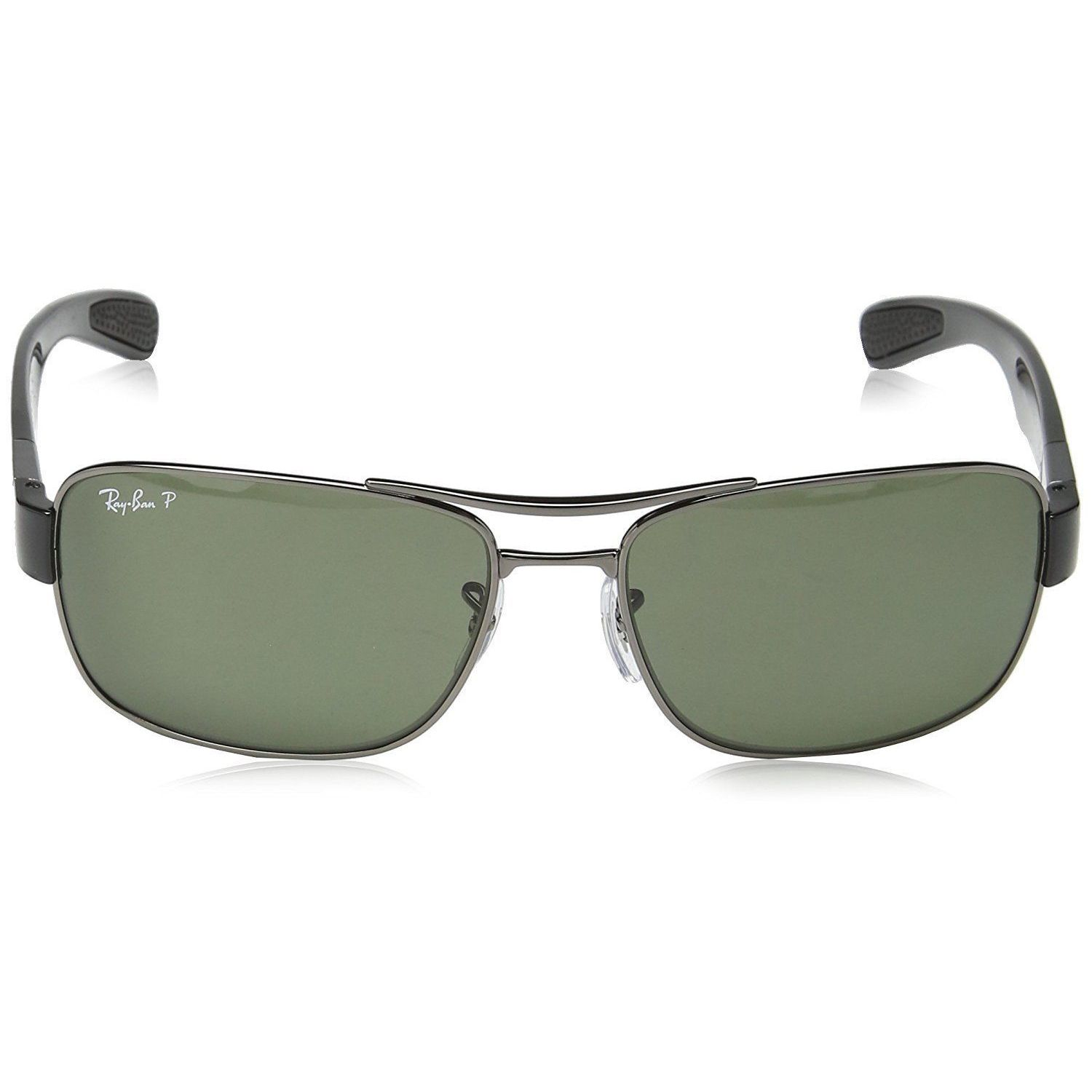 8895ae0cd34 Shop Ray-Ban RB3522 004 9A Men s Gunmetal Frame Polarized Green Lens  Sunglasses - Free Shipping Today - Overstock - 15079483