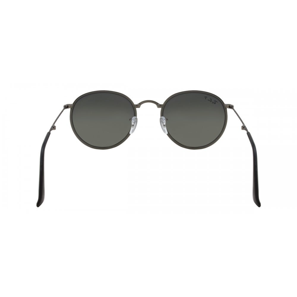 daf98fd321c56 Shop Ray-Ban Round Folding RB3517 029 N8 Unisex Gunmetal Frame Polarized  Silver Gradient Lens Sunglasses - Free Shipping Today - Overstock - 15079508