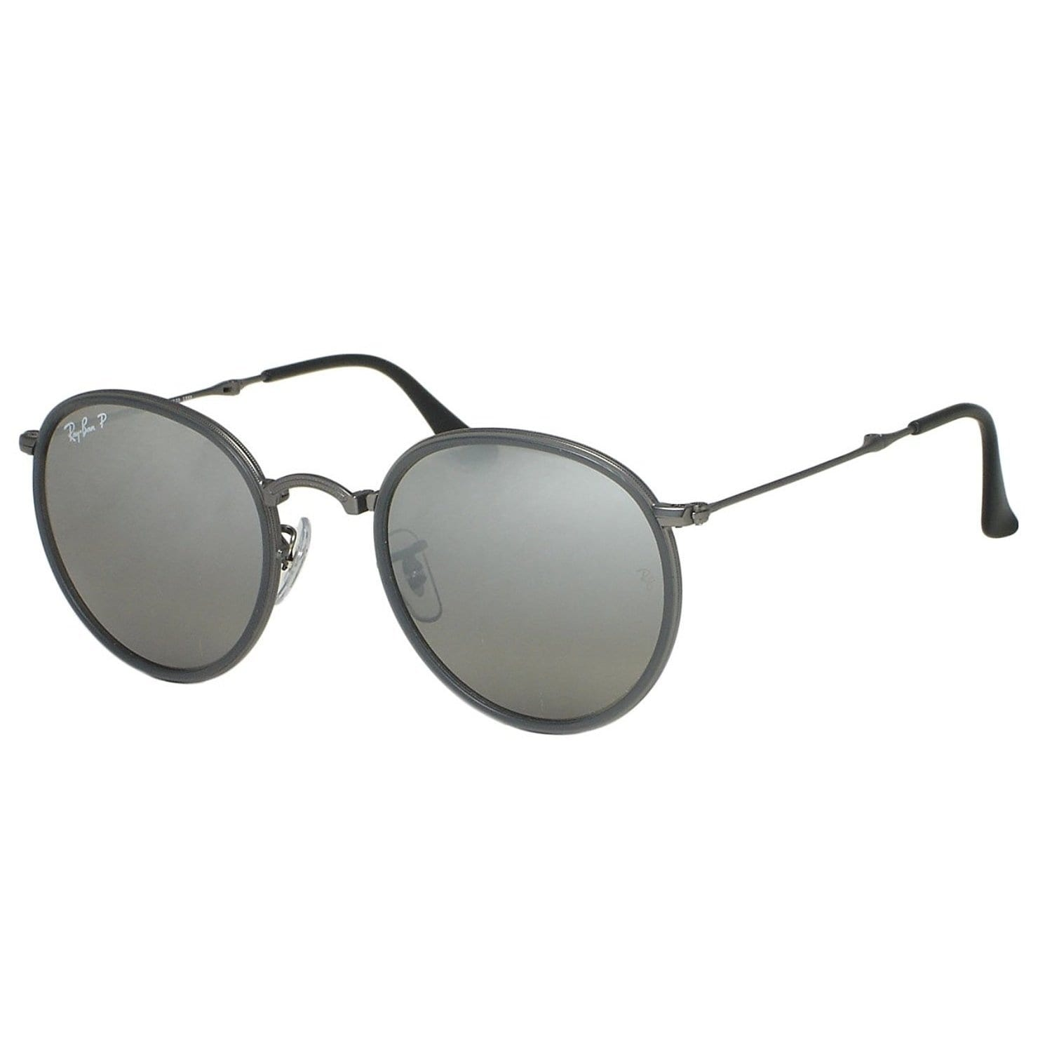50a78706f9 Shop Ray-Ban Round Folding RB3517 029 N8 Unisex Gunmetal Frame Polarized  Silver Gradient Lens Sunglasses - Free Shipping Today - Overstock - 15079508