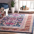 nuLOOM Bohemian Tribal Navy Rug (8' x 10') (As Is Item)