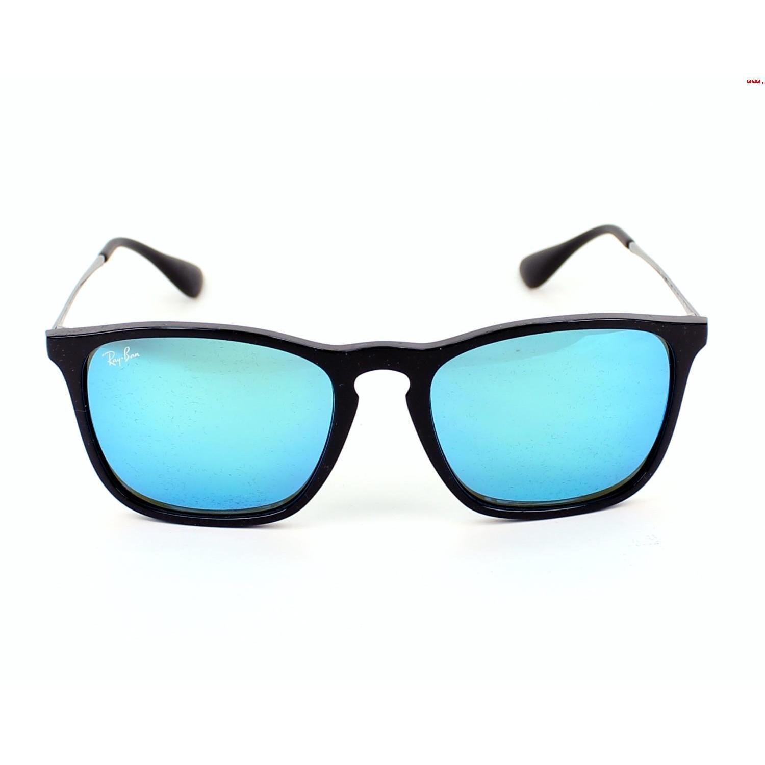 6fa7dad800 Shop Ray-Ban Chris RB4187 601 55 Men s Black Gunmetal Frame Blue Mirror  Lens Sunglasses - Free Shipping Today - Overstock - 15079548